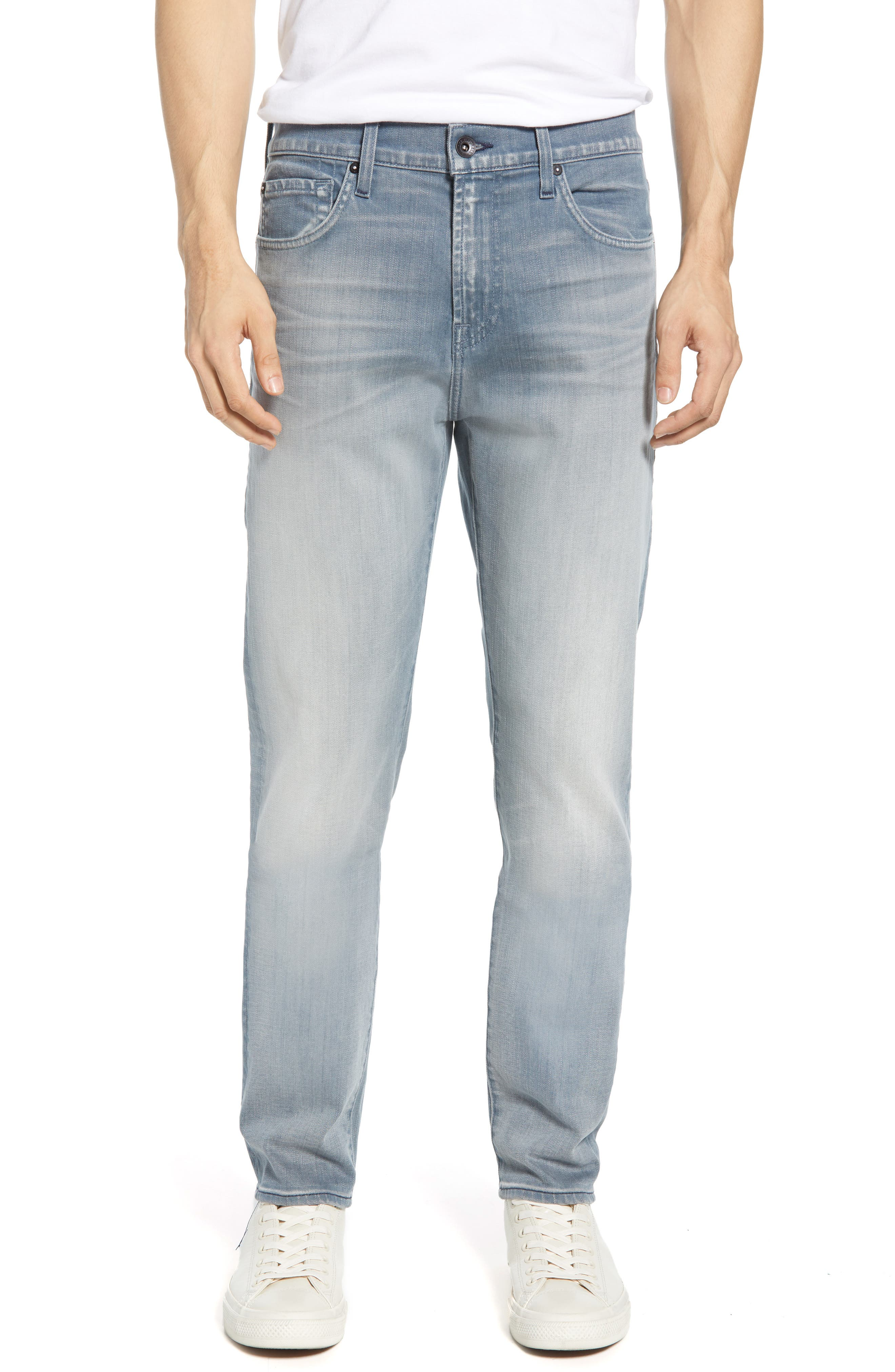 7 FOR ALL MANKIND<SUP>®</SUP>, Ryley Skinny Fit Jeans, Main thumbnail 1, color, AEGEAN
