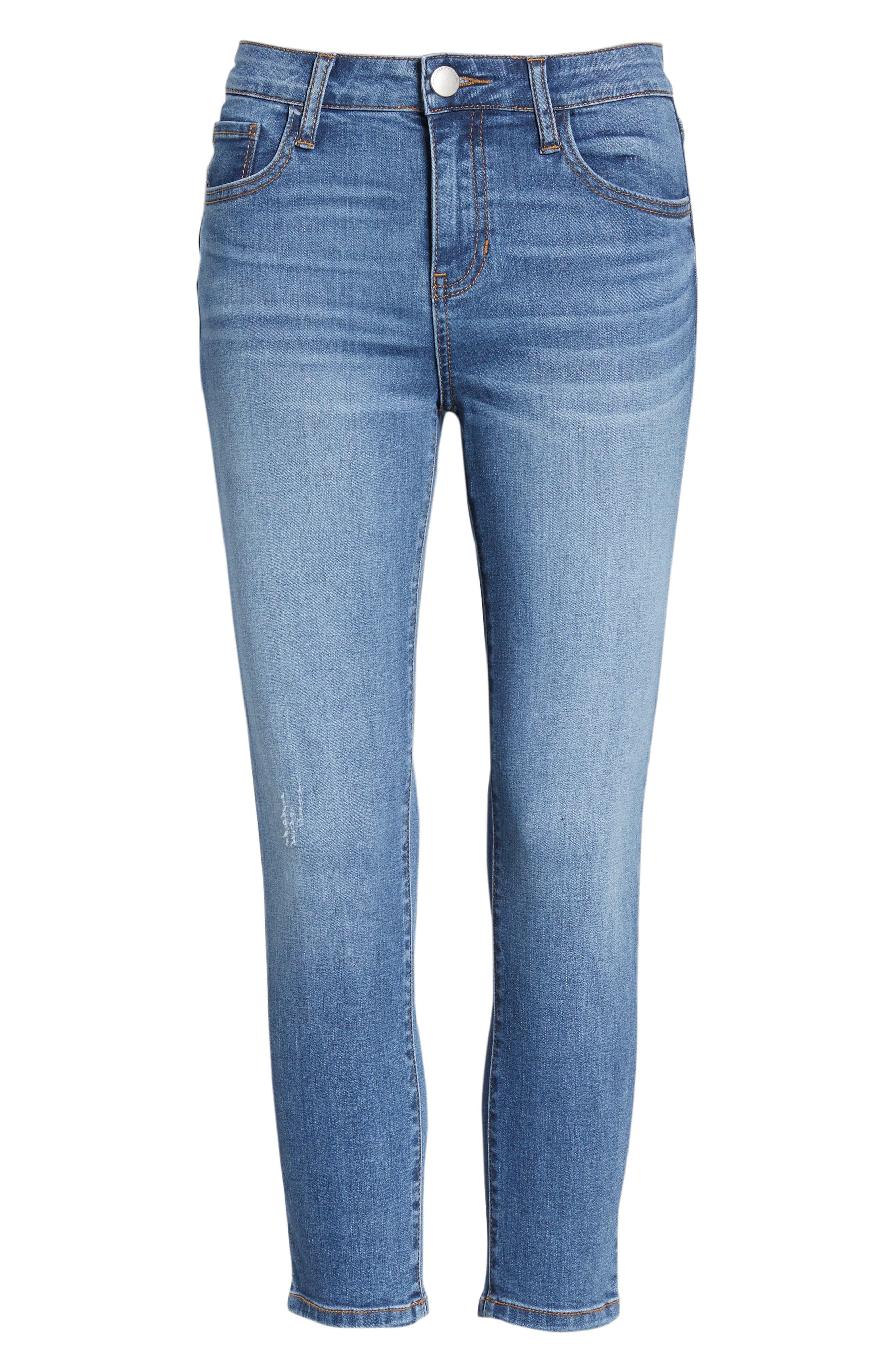PROSPERITY DENIM, Crop Skinny Jeans, Alternate thumbnail 7, color, MEDIUM WASH