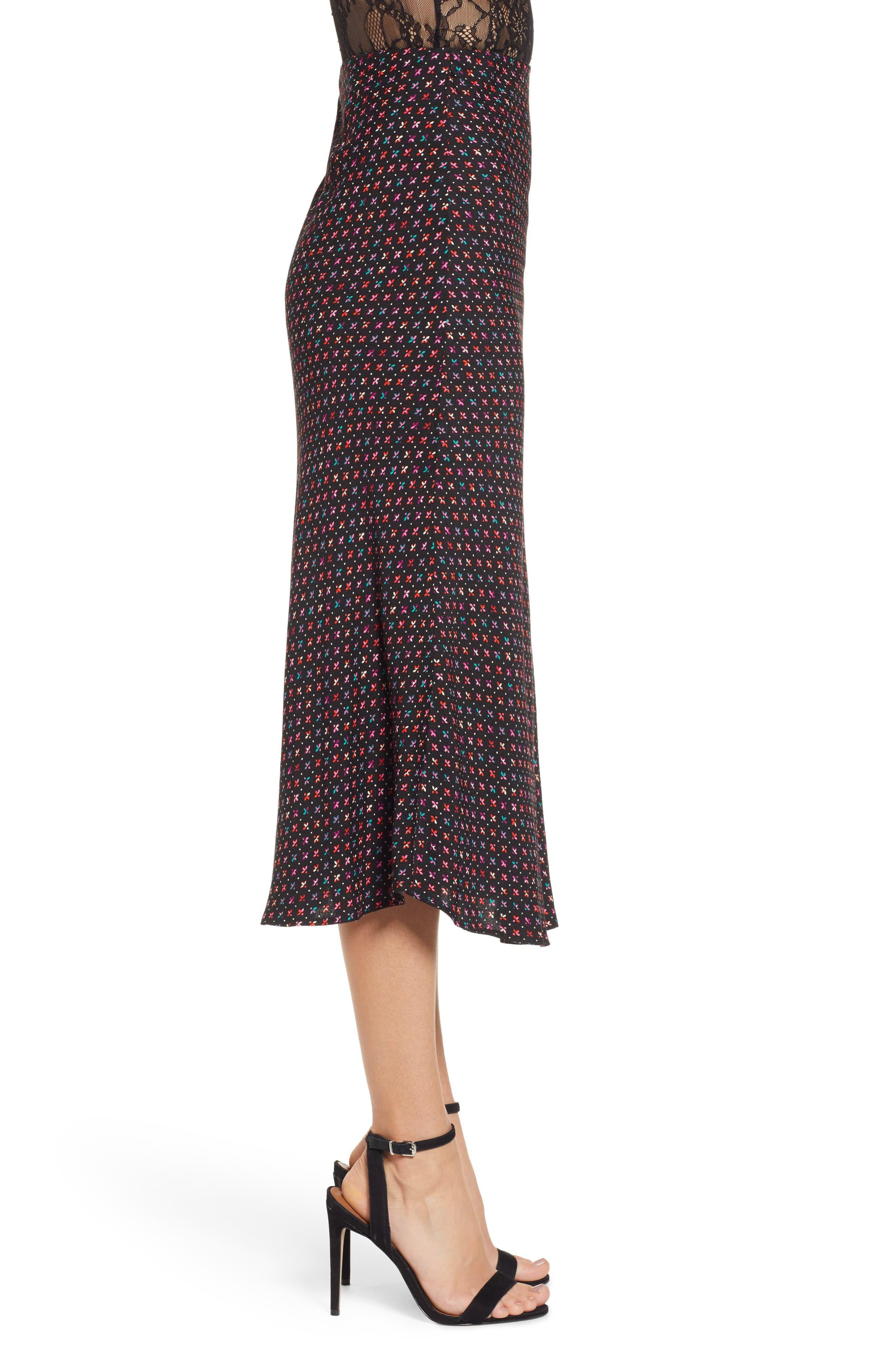 AFRM, Brynne Print Midi Skirt, Alternate thumbnail 3, color, 001