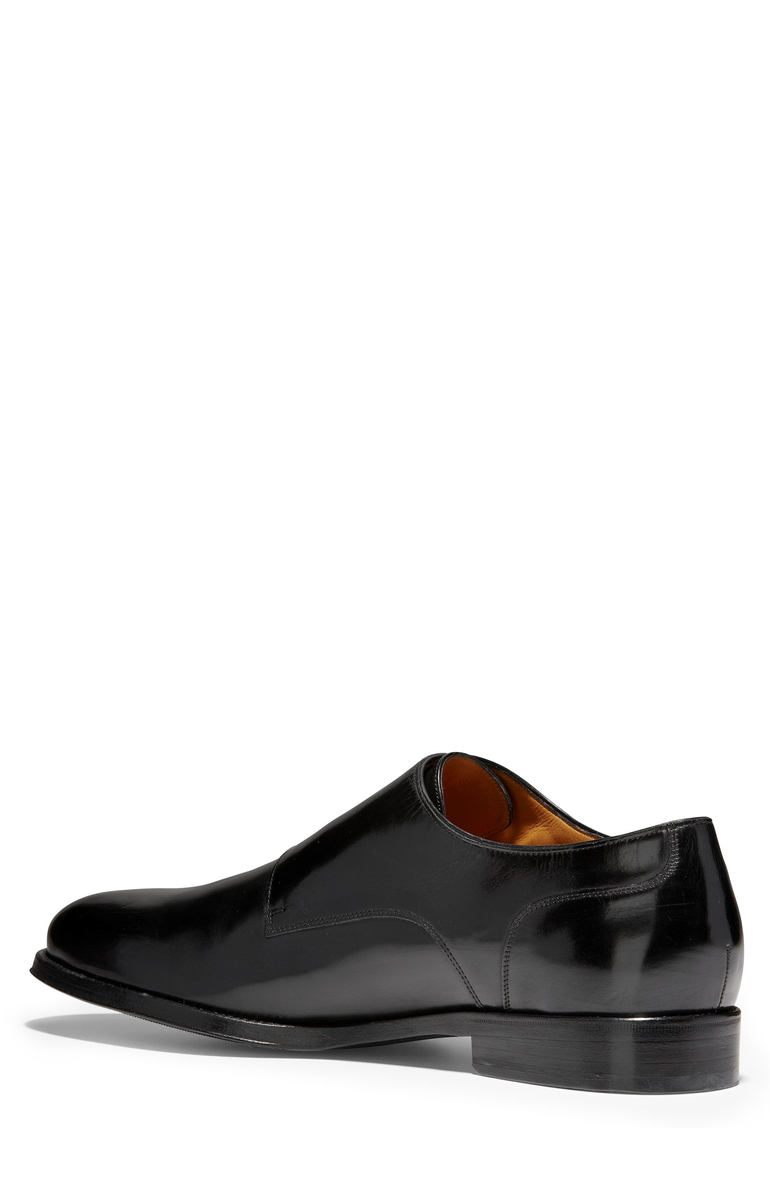 COLE HAAN, American Classics Gramercy Double Strap Monk Shoe, Alternate thumbnail 2, color, BLACK LEATHER