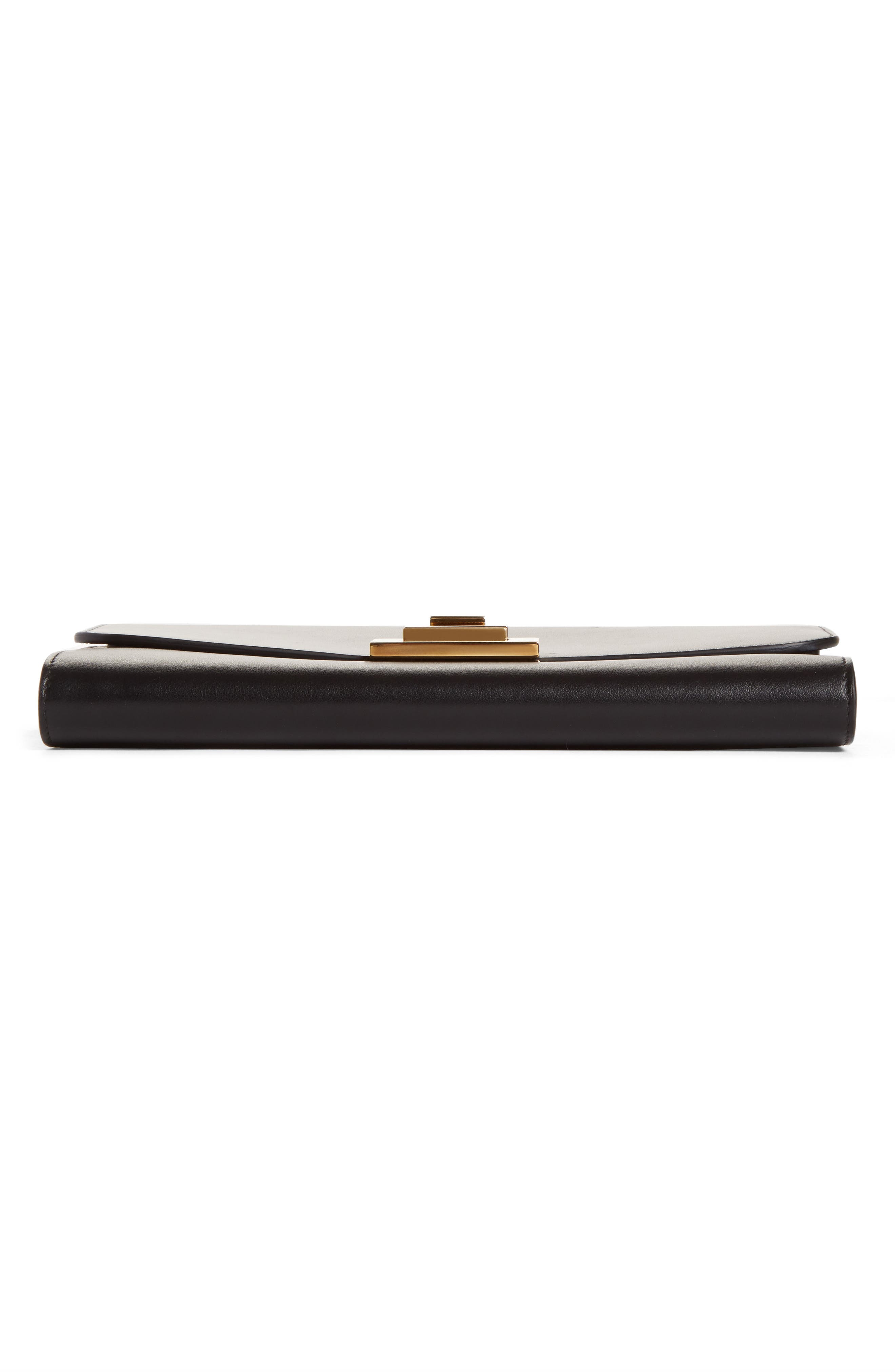 VICTORIA BECKHAM, Leather Wallet on a Chain, Alternate thumbnail 5, color, BLACK