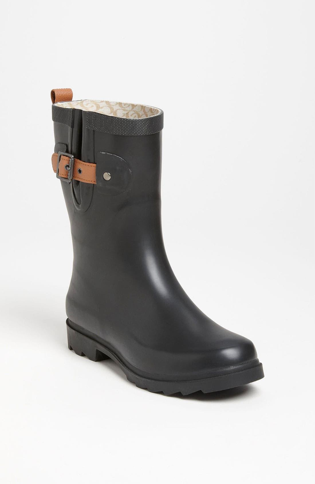 CHOOKA, 'Top Solid Mid Height' Rain Boot, Main thumbnail 1, color, 001