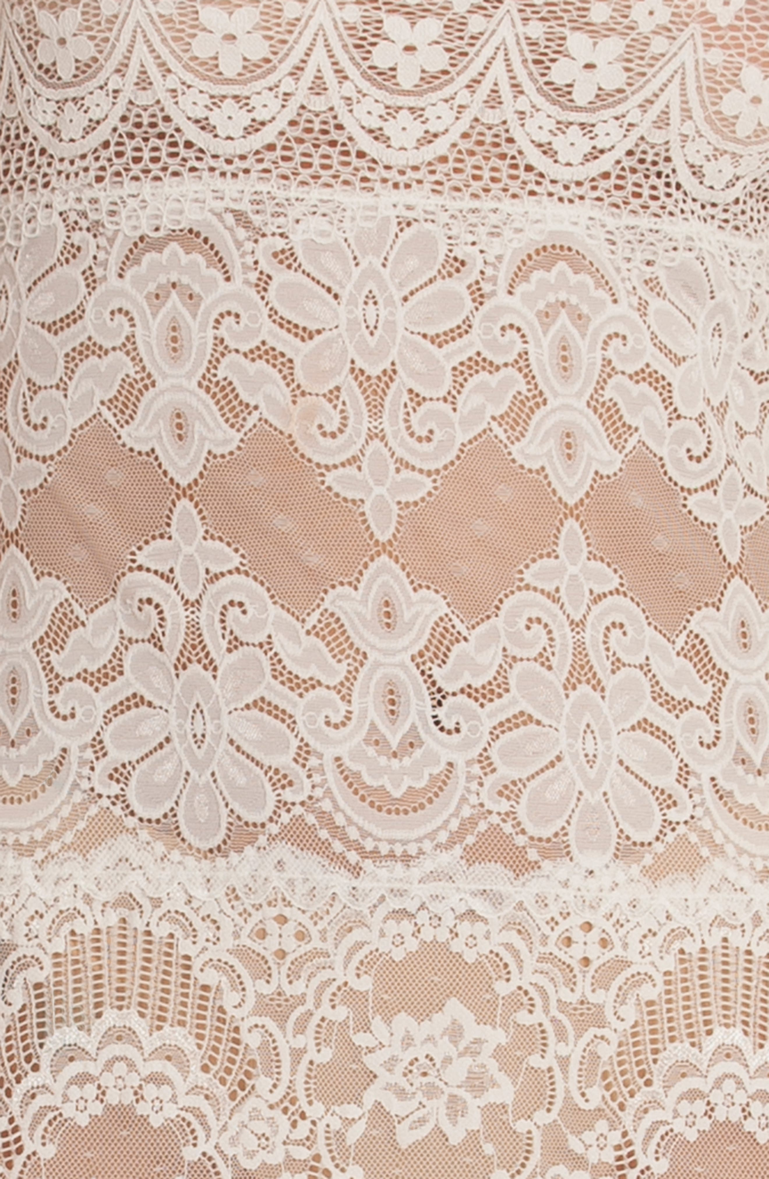 IN BLOOM BY JONQUIL, Lace Chemise, Alternate thumbnail 4, color, IVORY