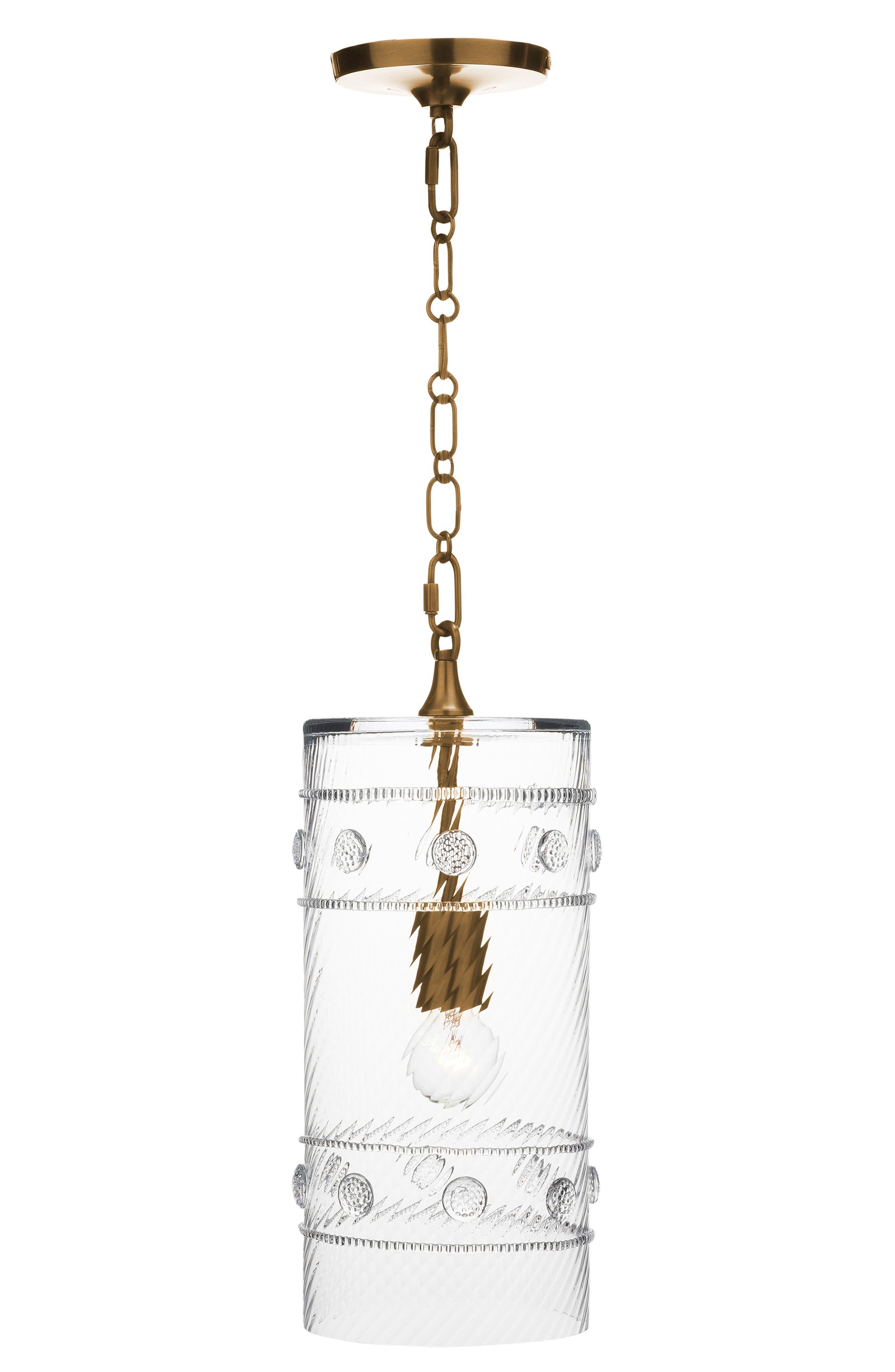Juliska Isabella Column Pendant Lamp Size One Size  Metallic