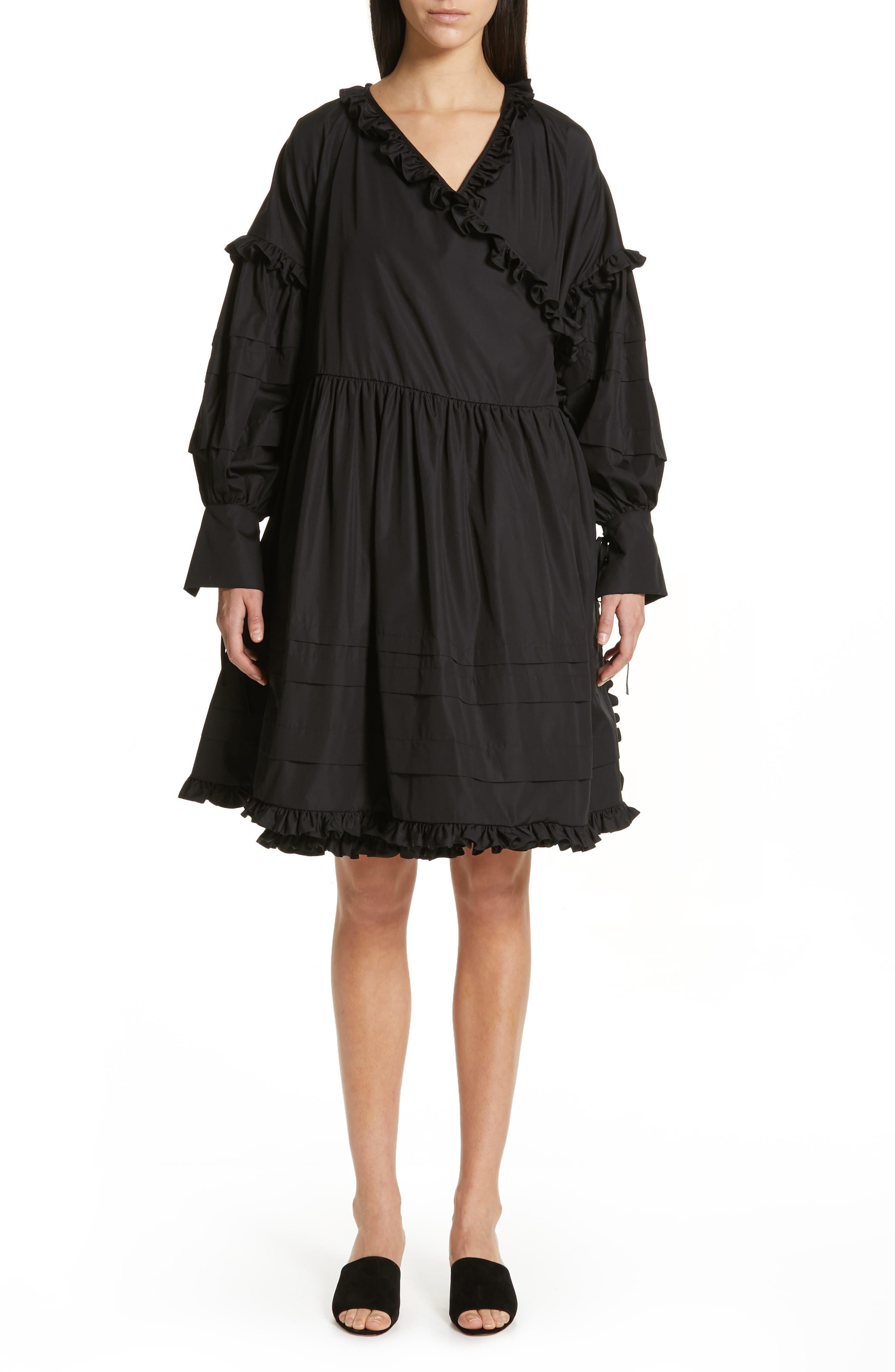 Cecilie Bahnsen Paulina Wrap Dress, Black