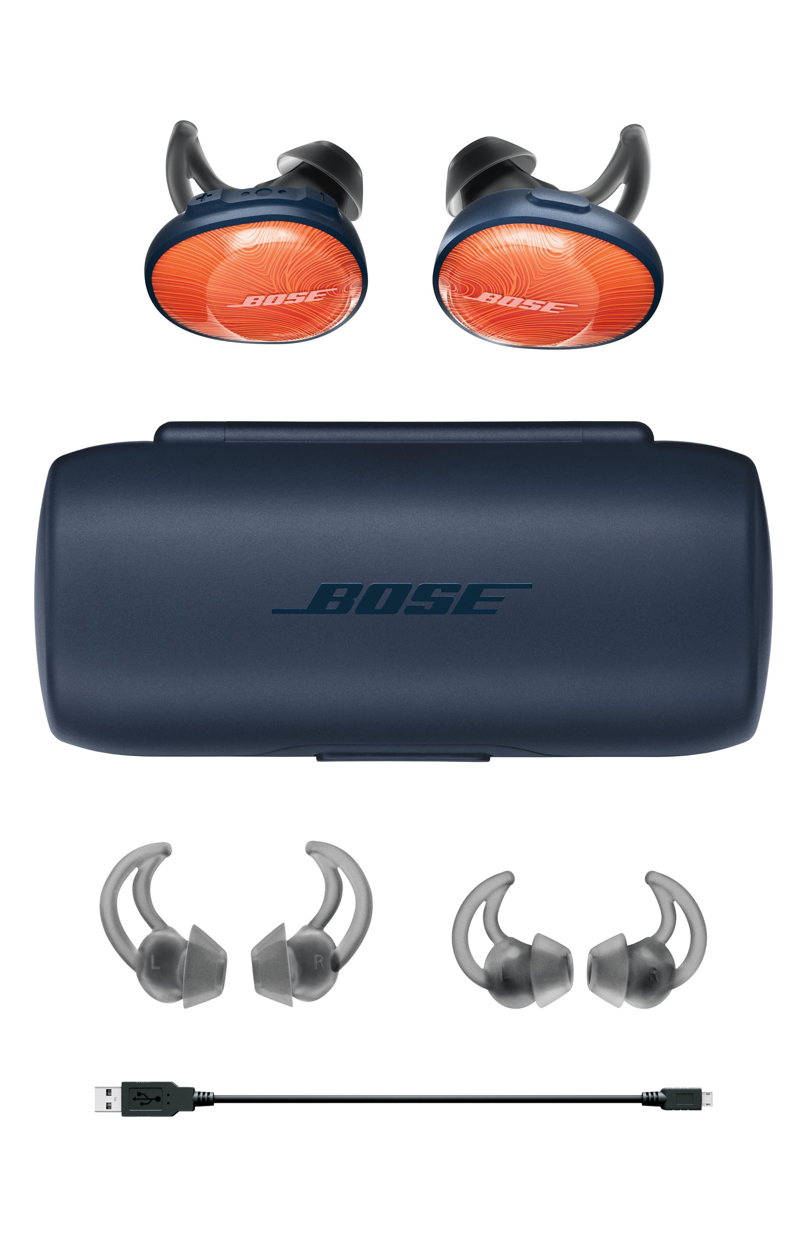 BOSE<SUP>®</SUP>, SoundSport<sup>®</sup> Free Wireless Headphones, Alternate thumbnail 4, color, ORANGE