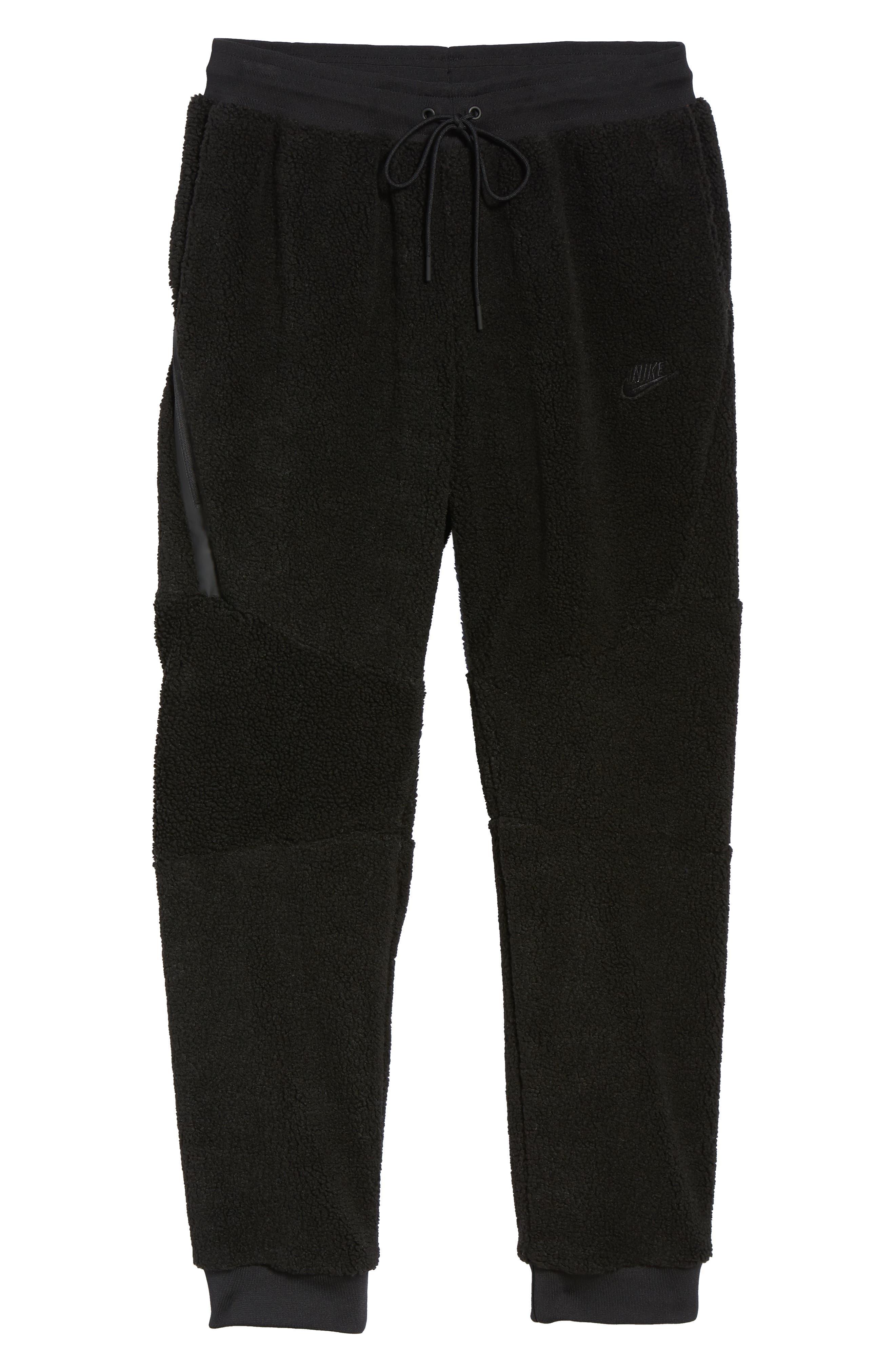 NIKE, Sportswear Tech Fleece Icon Jogger Pants, Alternate thumbnail 7, color, 010