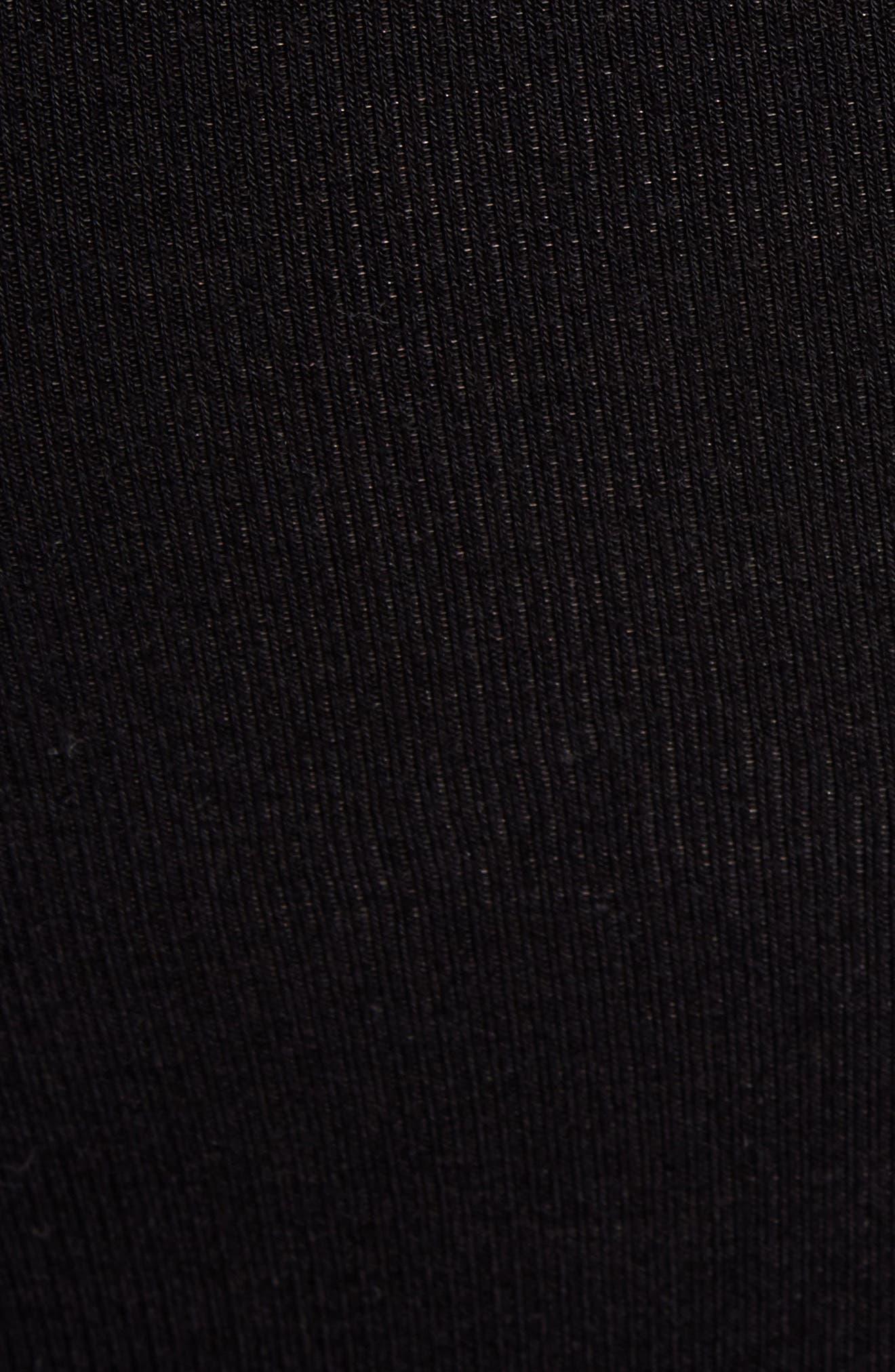 SPLENDID, Racerback Knit Dress, Alternate thumbnail 6, color, BLACK