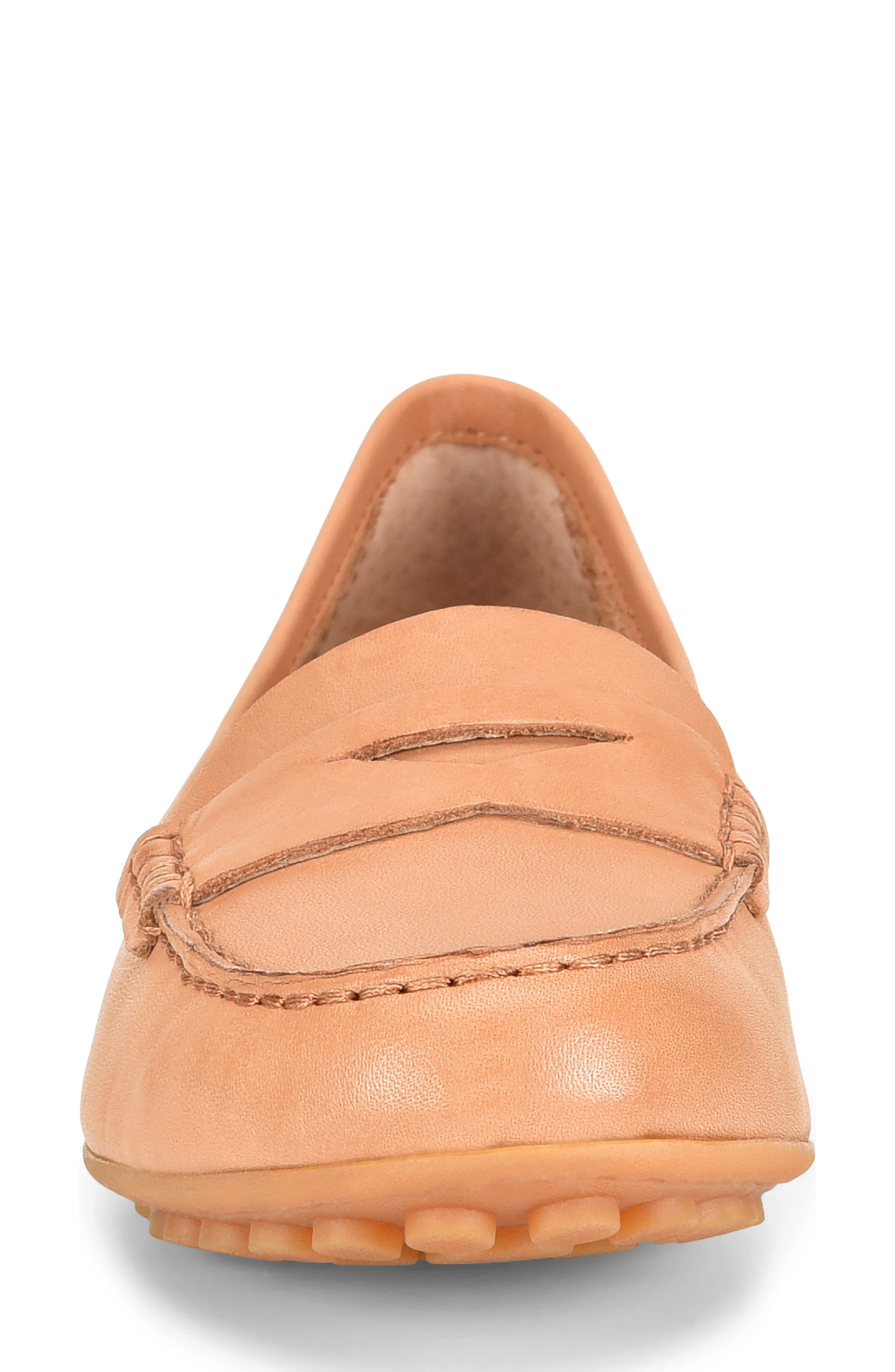 BØRN, Malena Driving Loafer, Alternate thumbnail 4, color, TAN BROWN LEATHER