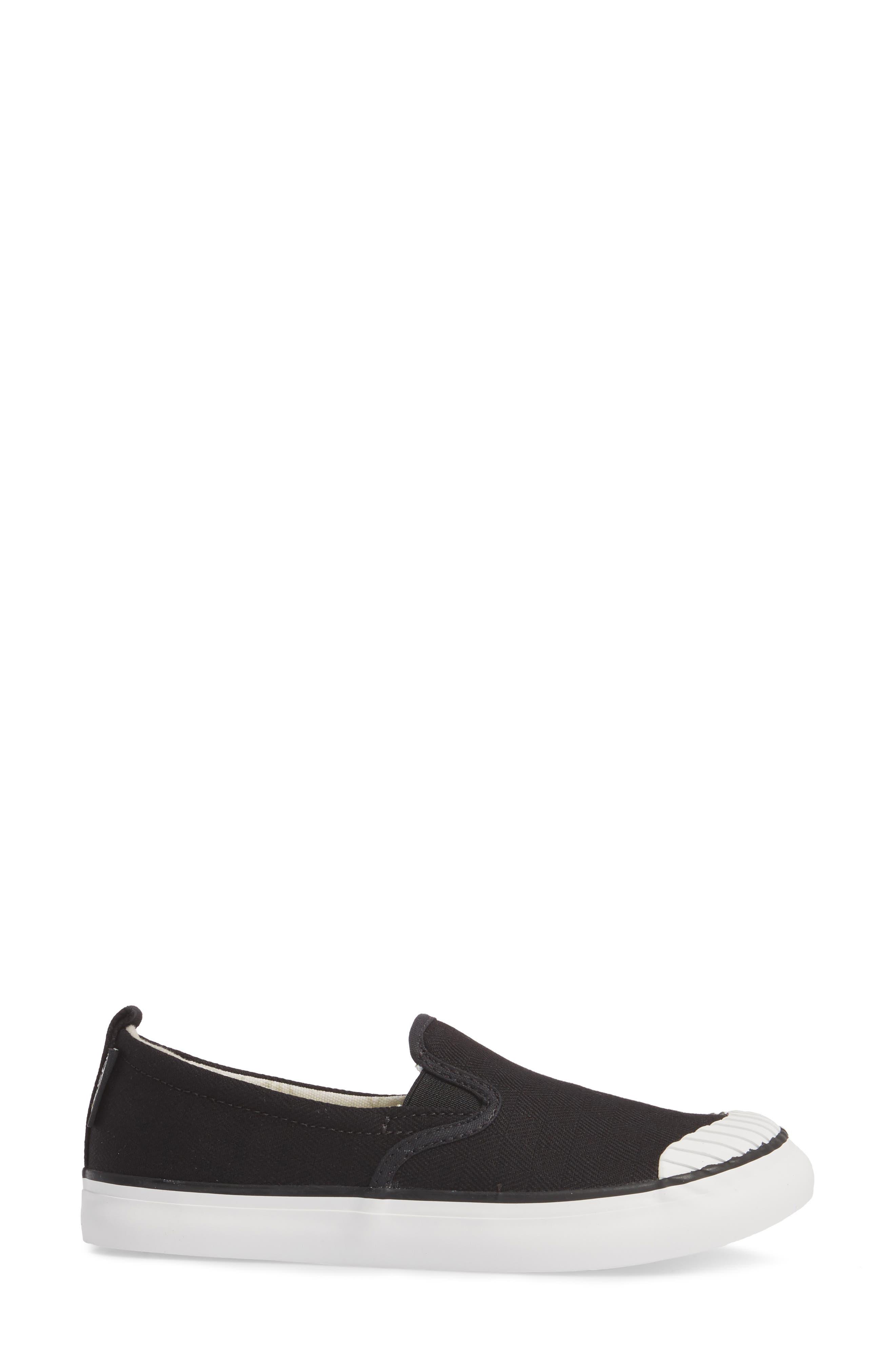 KEEN, Elsa Slip-On Sneaker, Alternate thumbnail 3, color, BLACK/ STAR WHITE