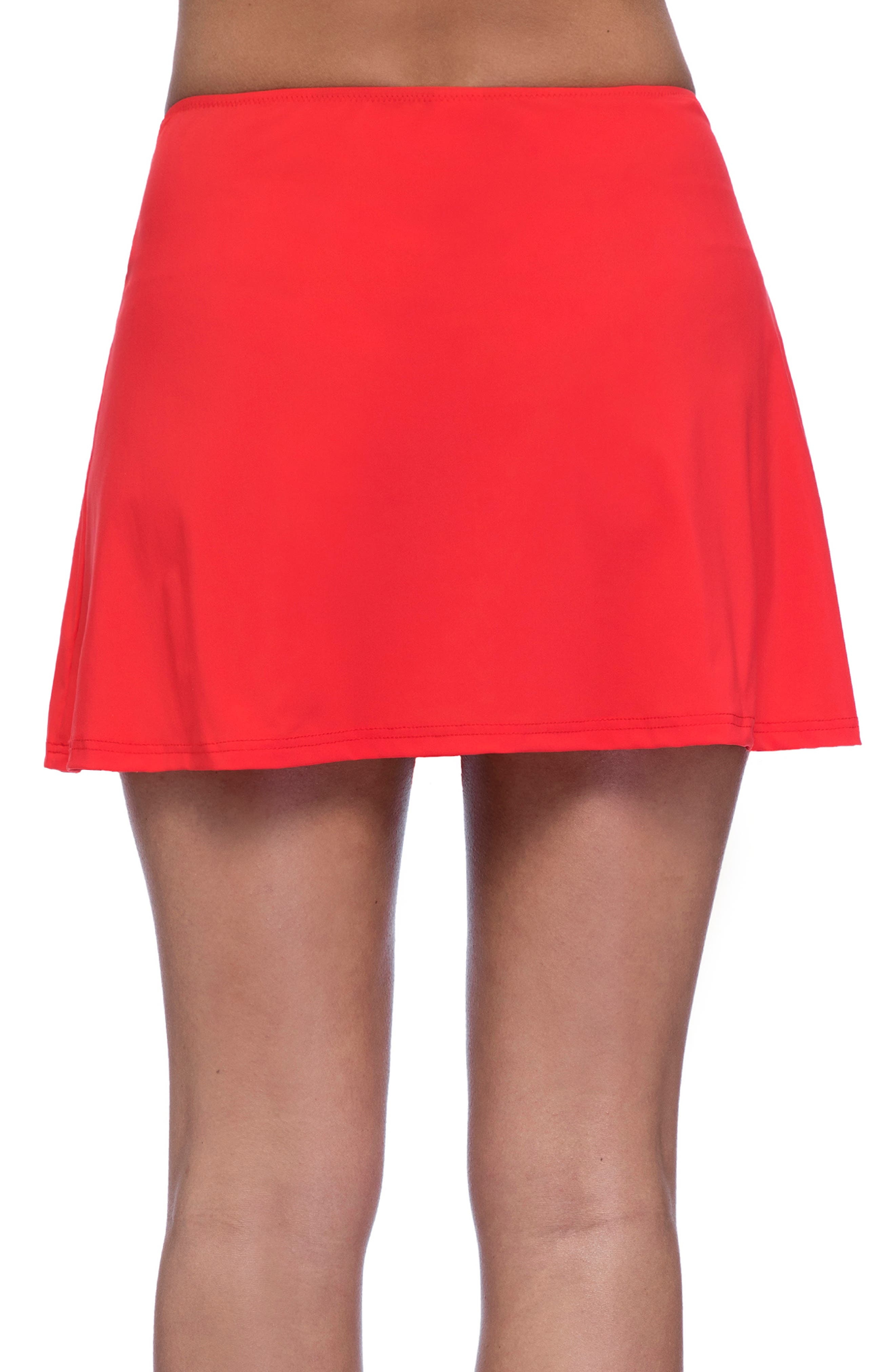 PROFILE BY GOTTEX, Cover-Up Skirt, Alternate thumbnail 2, color, TANGERINE