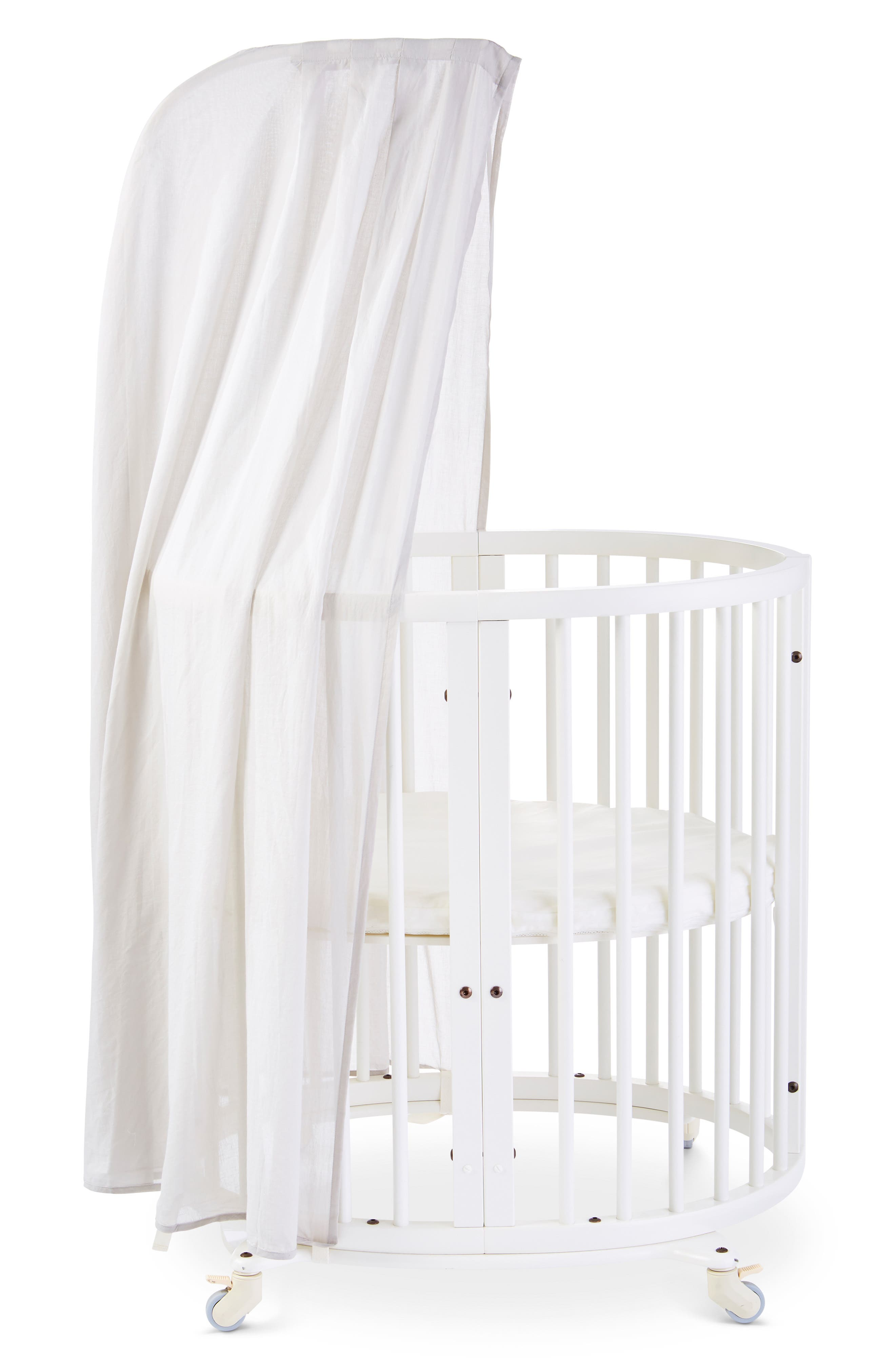 STOKKE, Organic Cotton Canopy for Sleepi Cribs, Main thumbnail 1, color, GREY