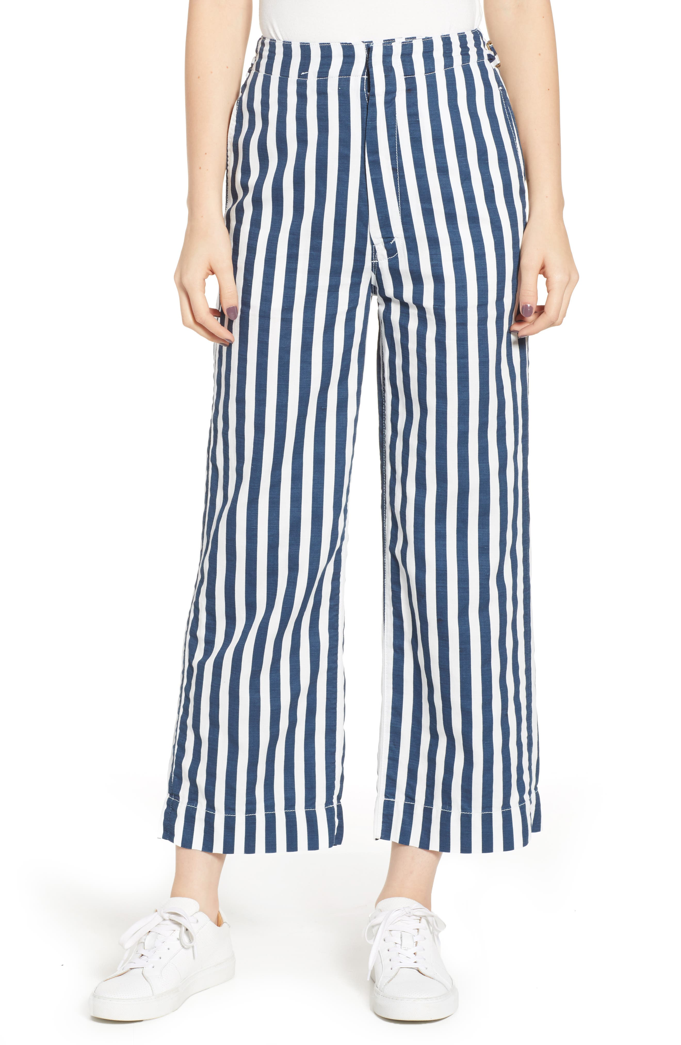 MOTHER, The Cinch Greaser Stripe Pants, Main thumbnail 1, color, 110