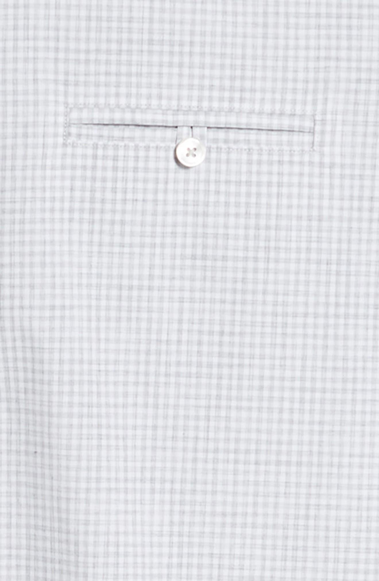 ZACHARY PRELL, Cechini Regular Fit Short Sleeve Sport Shirt, Alternate thumbnail 6, color, LT GREY
