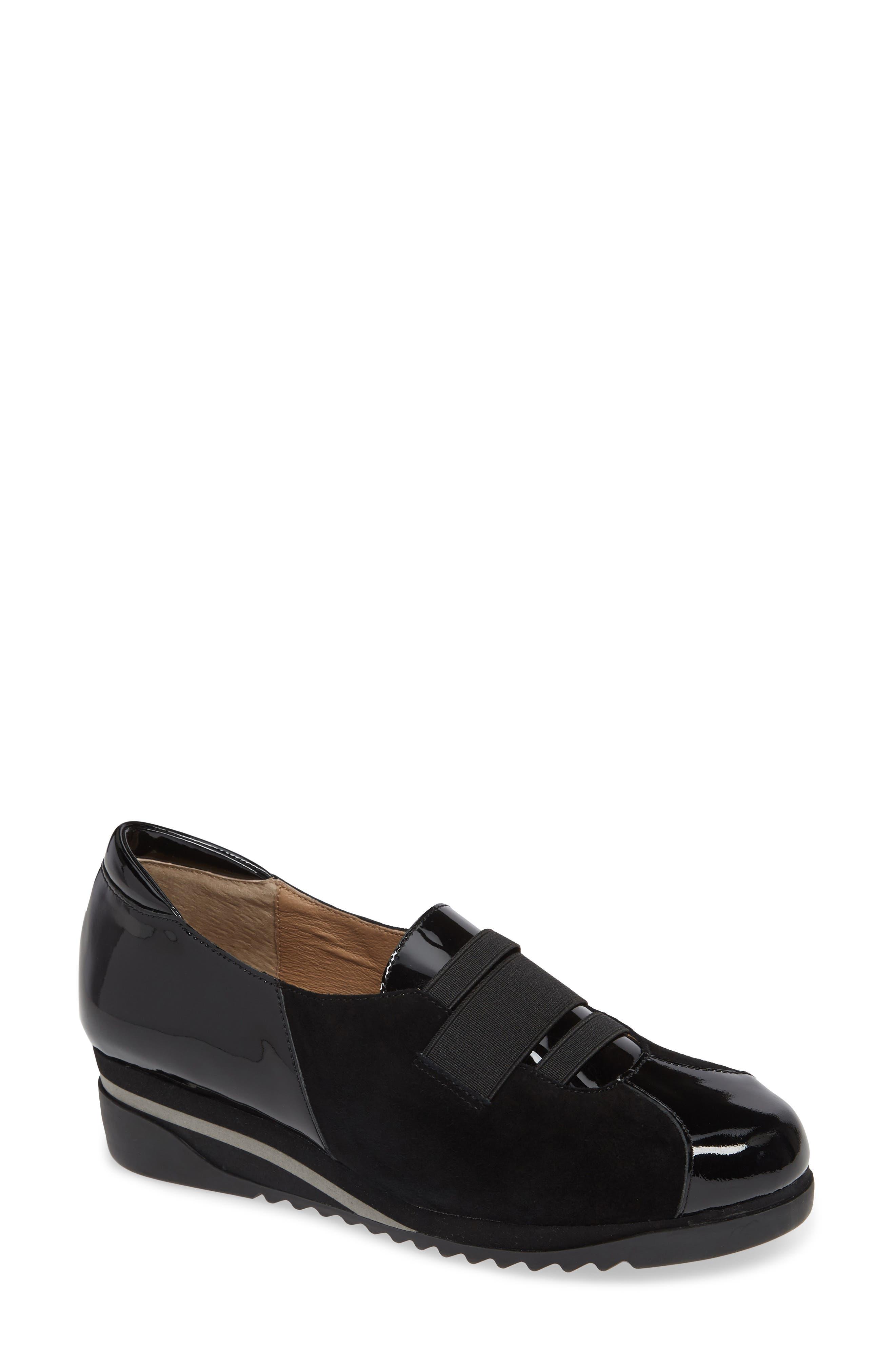 BETTYE MULLER CONCEPTS, Taytum Sneaker, Main thumbnail 1, color, BLACK SUEDE