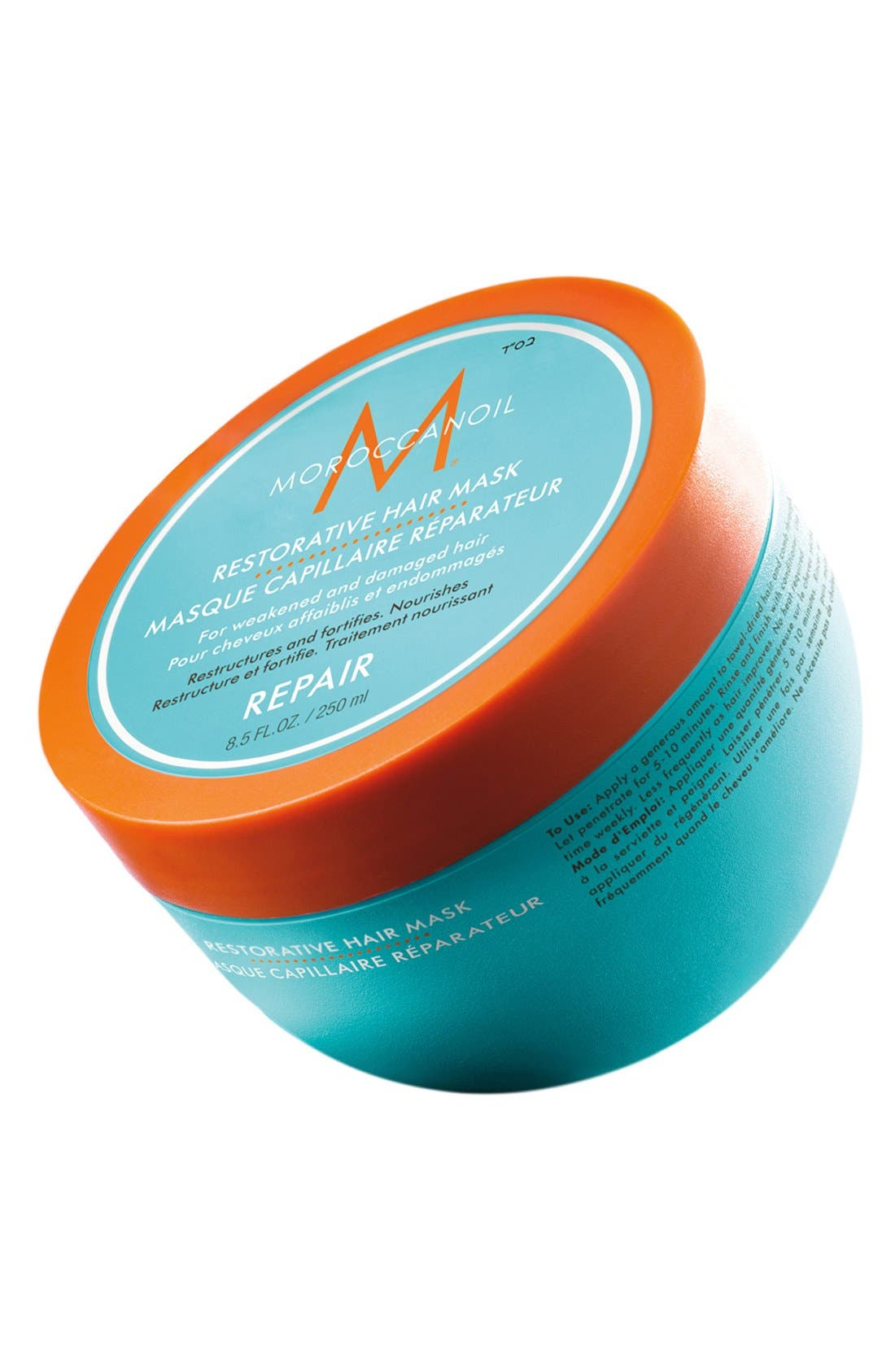 MOROCCANOIL<SUP>®</SUP>, Restorative Hair Mask, Main thumbnail 1, color, NO COLOR