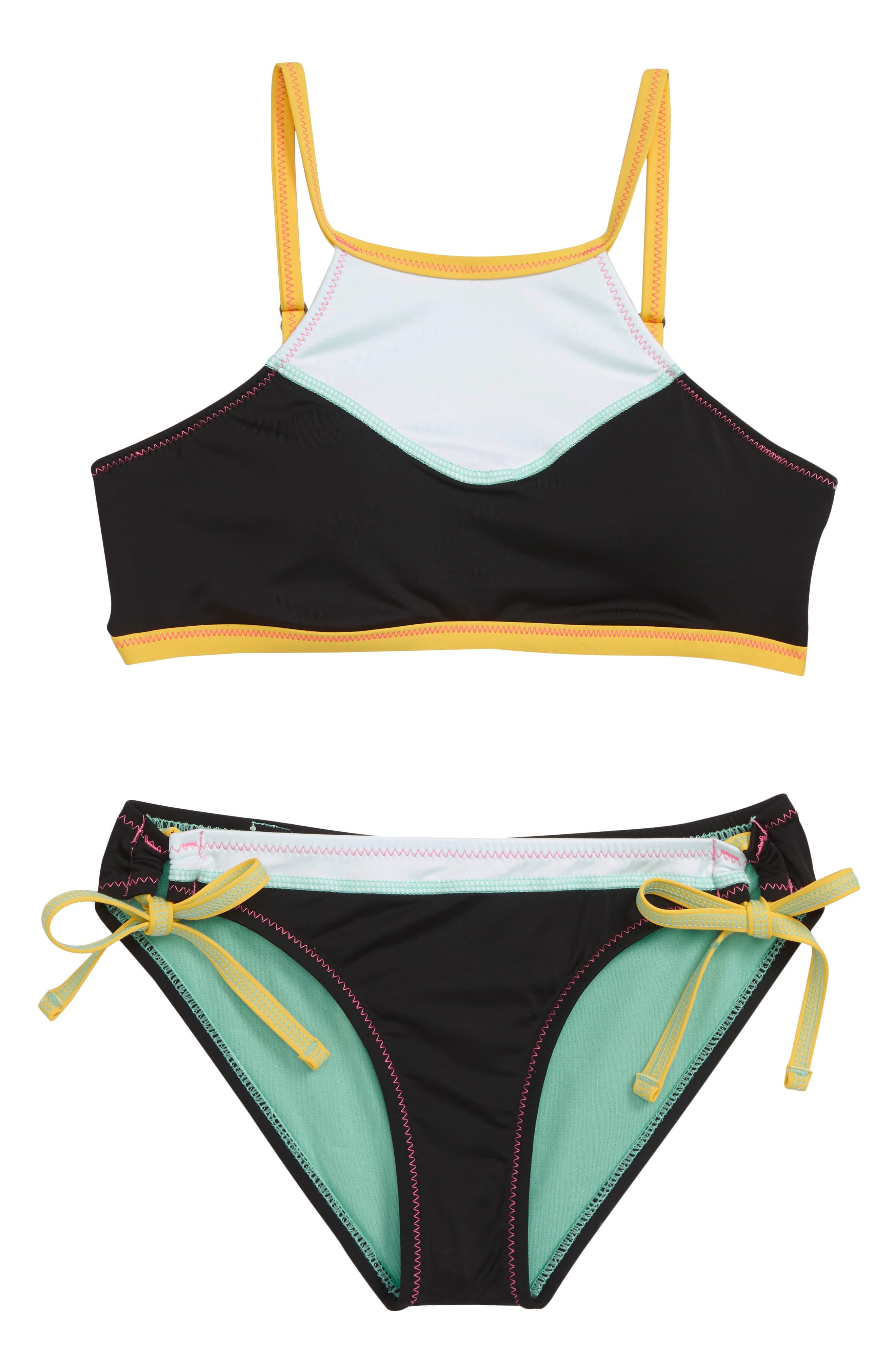HOBIE, Stitch Perfect Two-Piece Swimsuit, Main thumbnail 1, color, BLACK