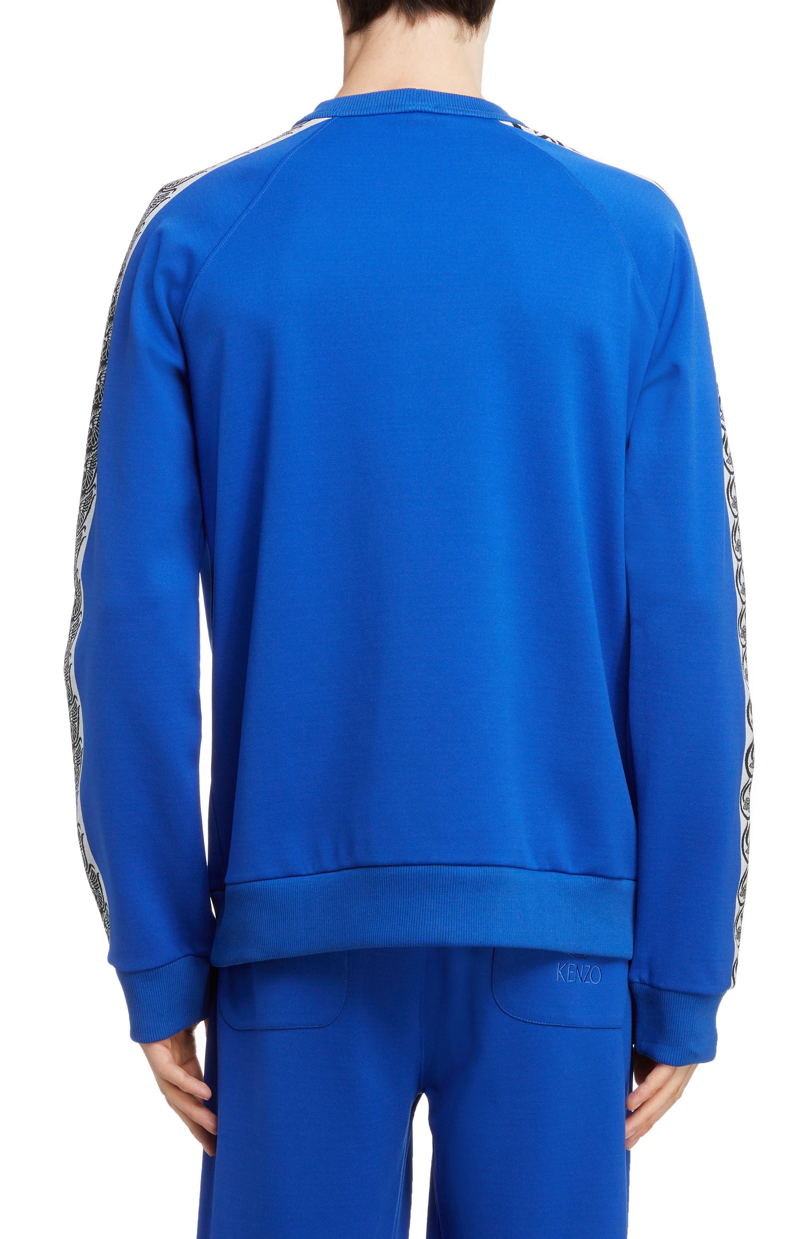 KENZO, Jacquard Raglan Sweatshirt, Alternate thumbnail 2, color, FRENCH BLUE