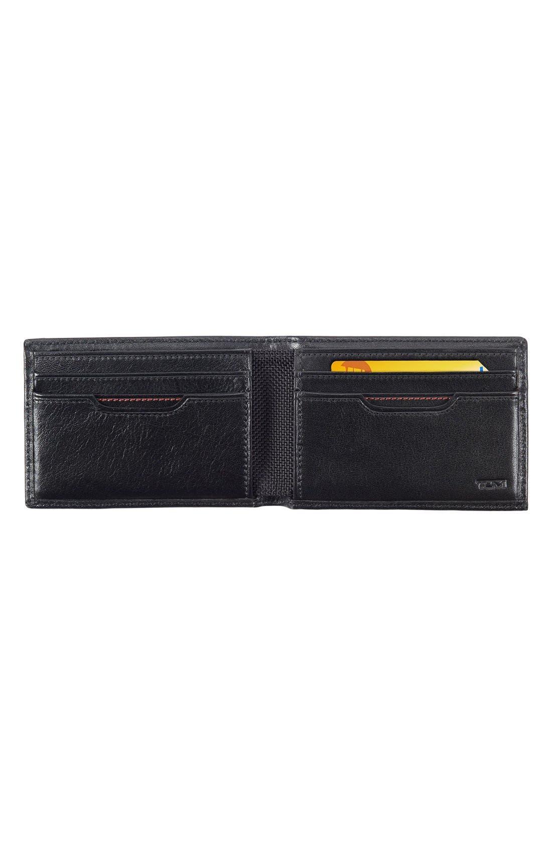 TUMI, Delta ID Lock Shielded Slim Single Billfold, Alternate thumbnail 3, color, BLACK