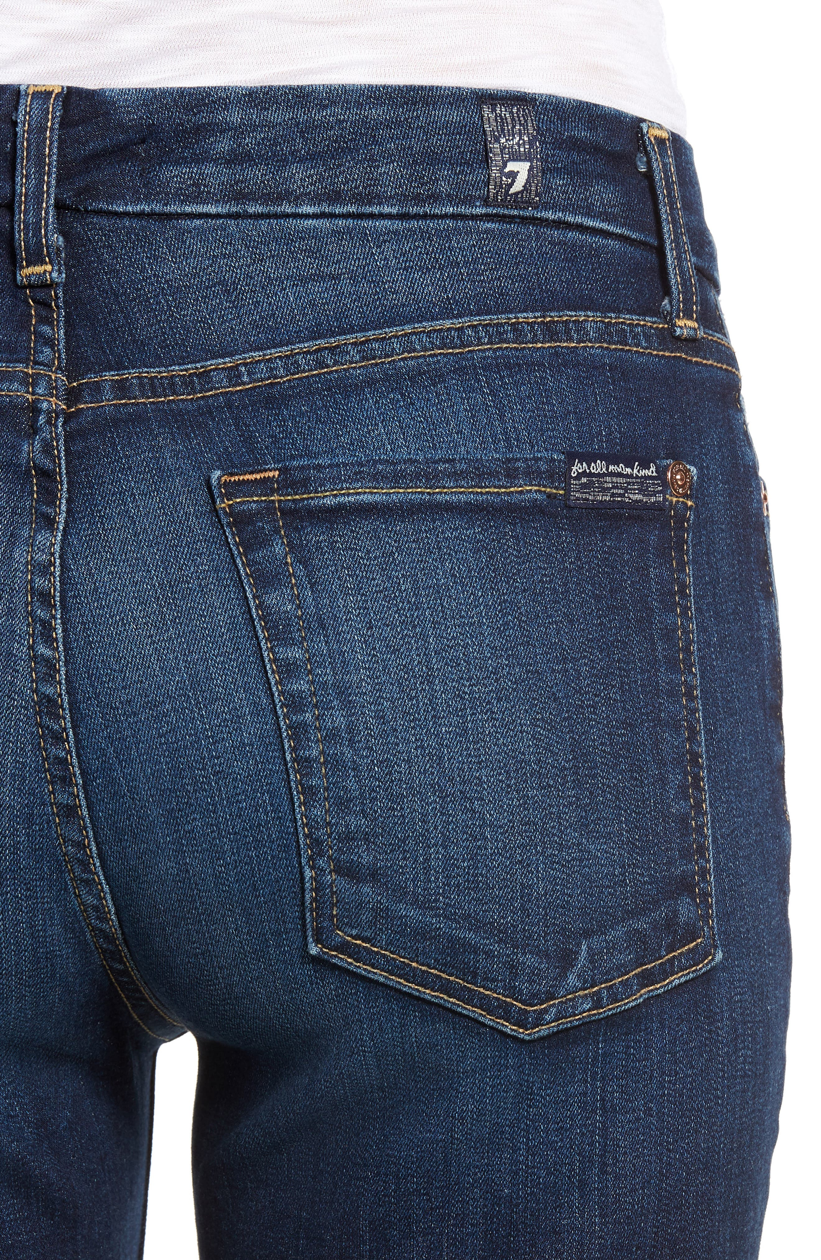 7 FOR ALL MANKIND<SUP>®</SUP>, b(air) Kimmie Straight Leg Jeans, Alternate thumbnail 5, color, AUTHENTIC FATE