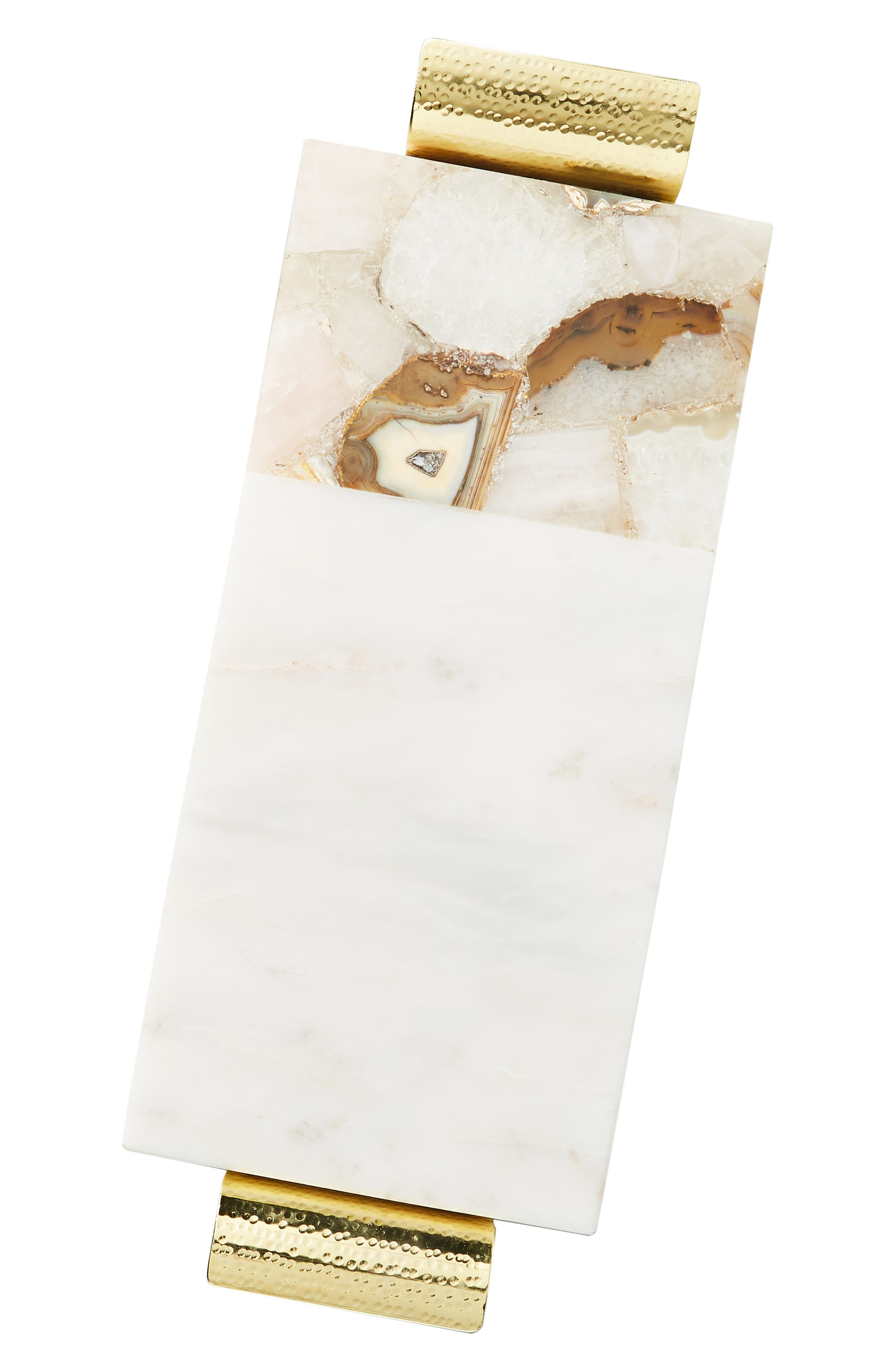 ANTHROPOLOGIE, Morgan Agate & Marble Cheese Board, Alternate thumbnail 3, color, WHITE
