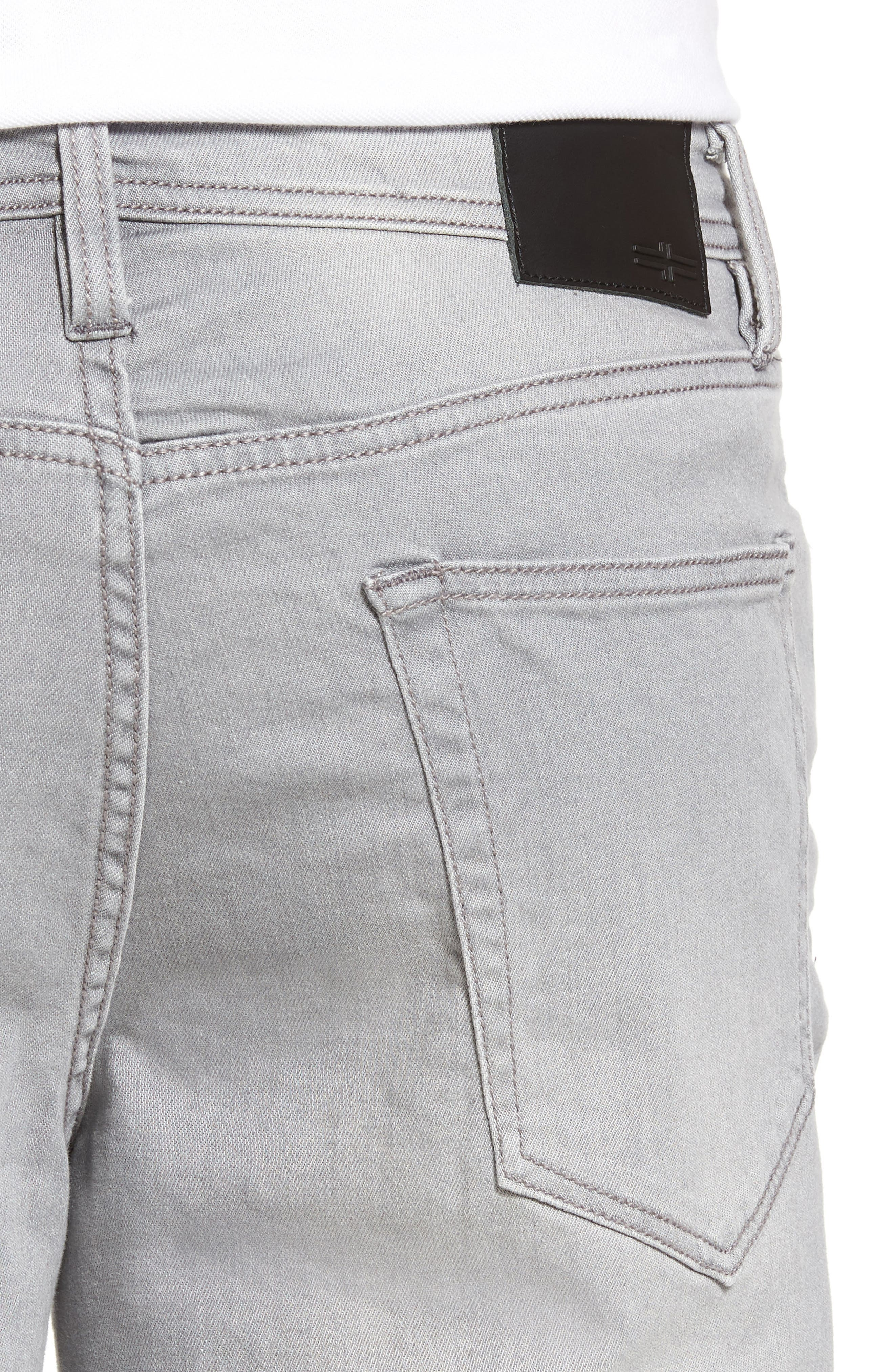 LIVERPOOL, Regent Relaxed Straight Leg Jeans, Alternate thumbnail 4, color, COAL MINE DARK