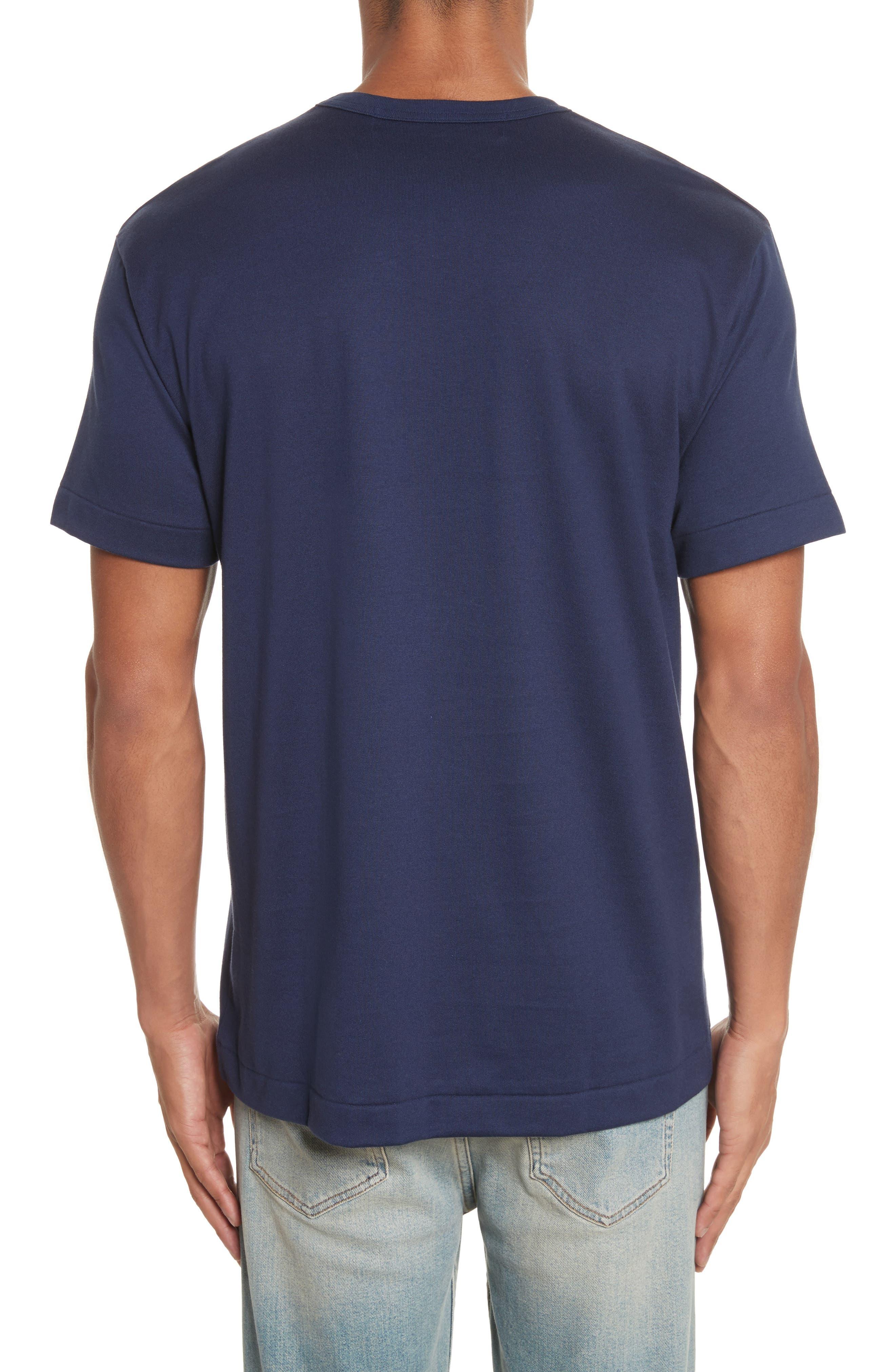 COMME DES GARÇONS PLAY, Graphic T-Shirt, Alternate thumbnail 2, color, 410
