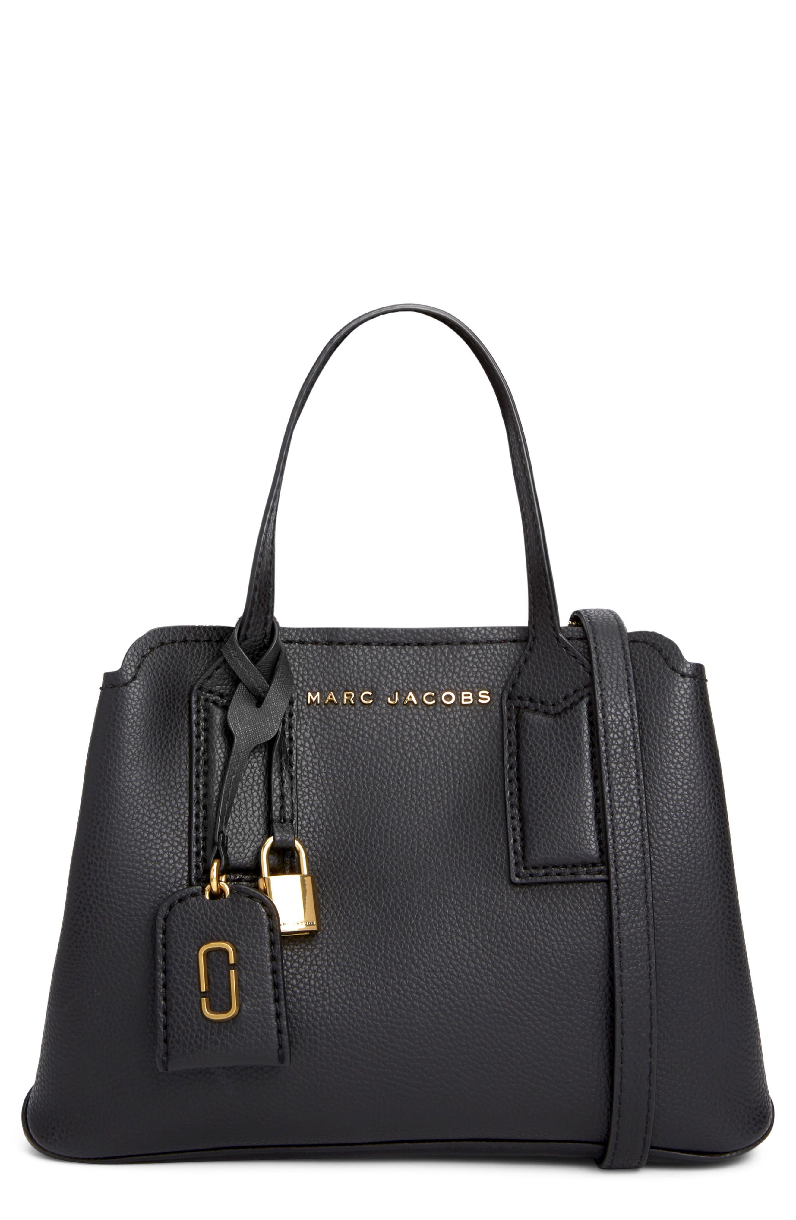 MARC JACOBS, The Editor 29 Leather Crossbody Bag, Main thumbnail 1, color, BLACK