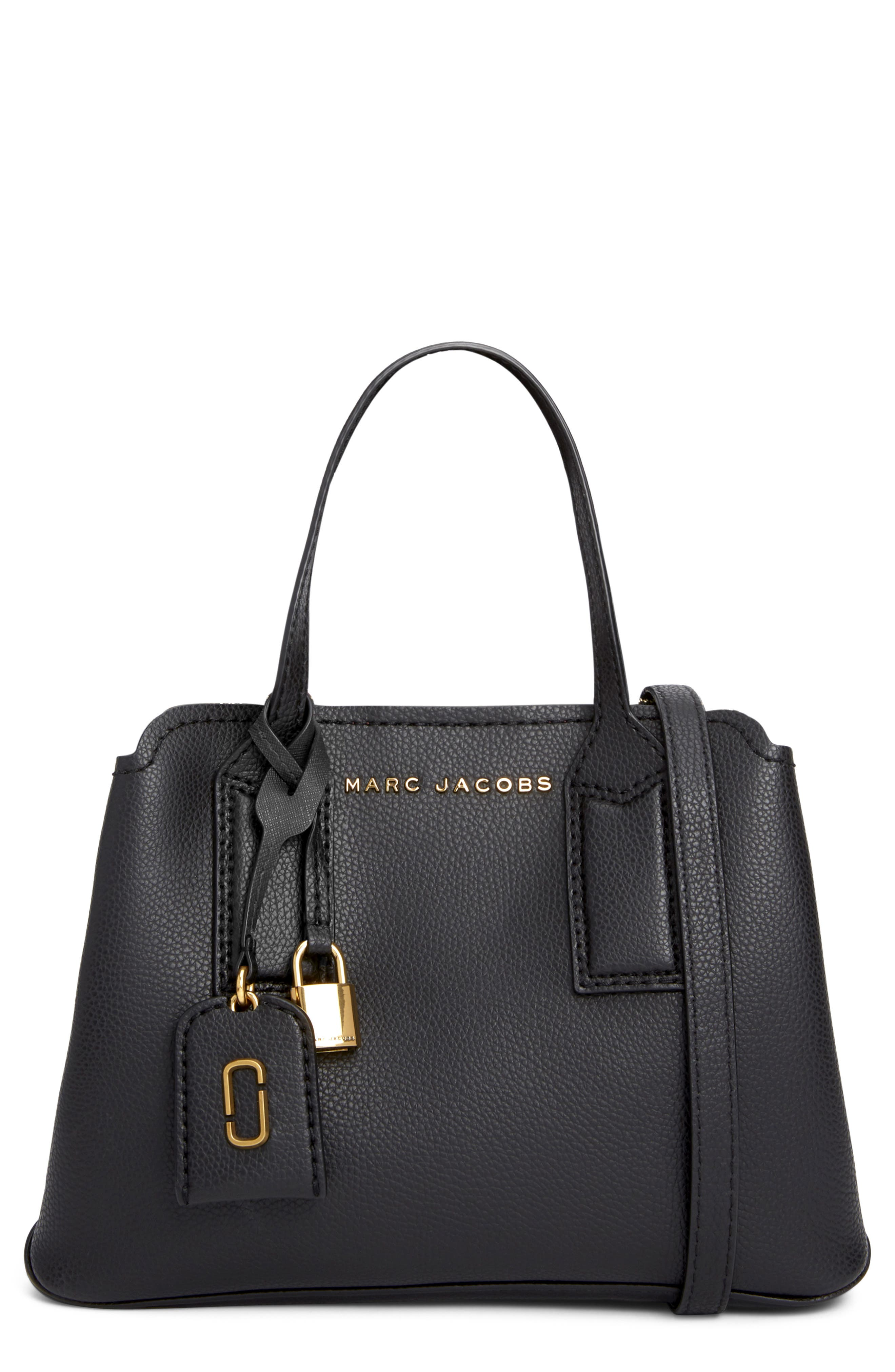 MARC JACOBS The Editor 29 Leather Crossbody Bag, Main, color, BLACK