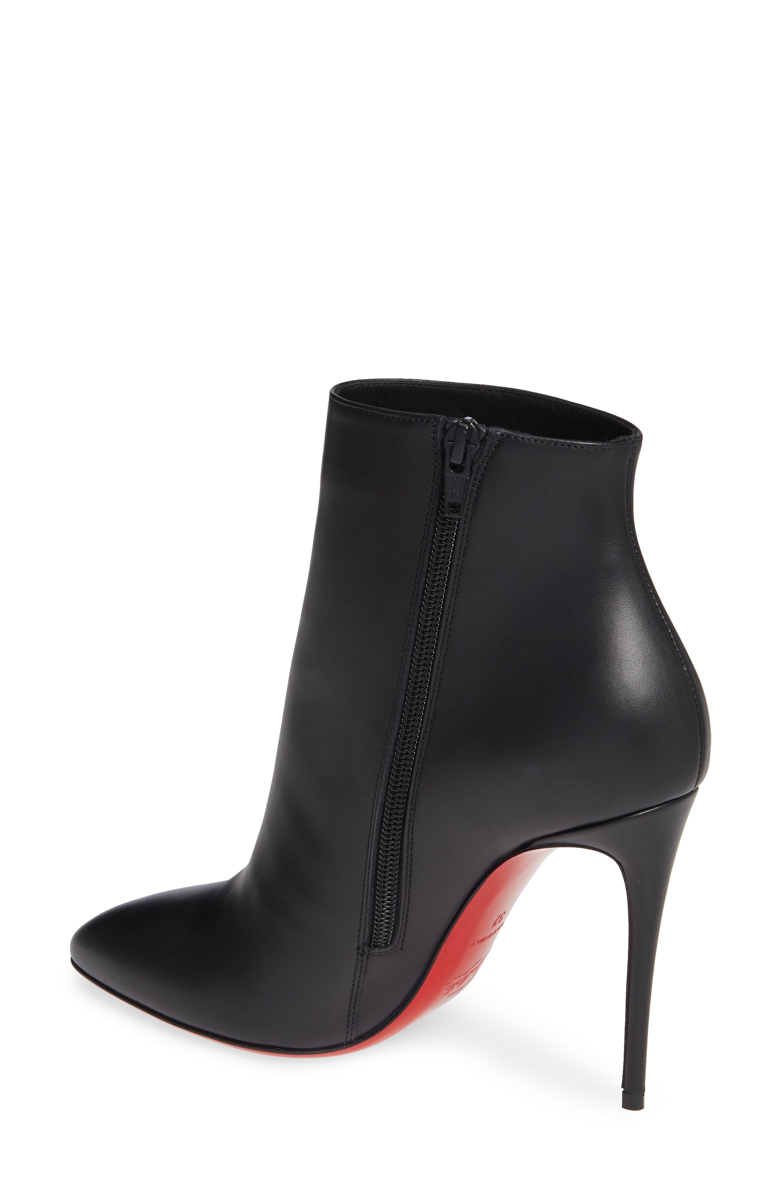 CHRISTIAN LOUBOUTIN, Eloise Pointy Toe Bootie, Alternate thumbnail 2, color, BLACK