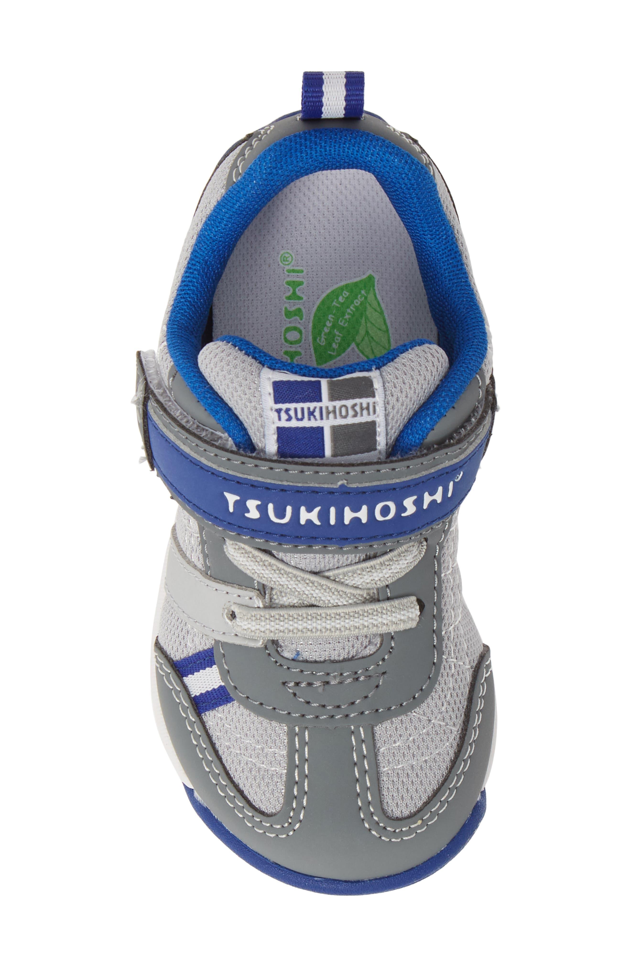TSUKIHOSHI, Kaz Washable Sneaker, Alternate thumbnail 5, color, GRAY/ ROYAL
