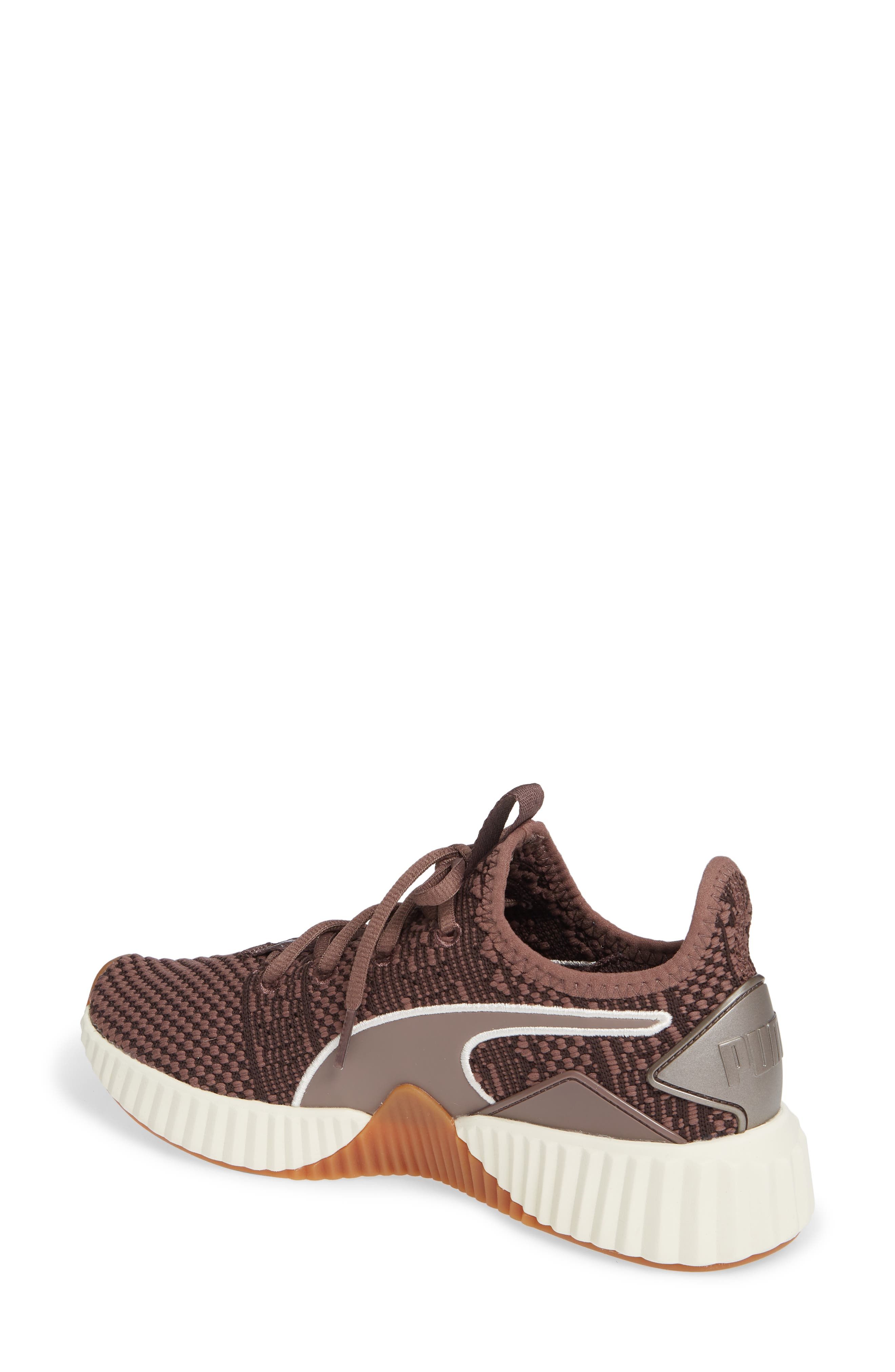 PUMA, Defy Luxe Sneaker, Alternate thumbnail 2, color, PEPPERCORN/ METALLIC ASH