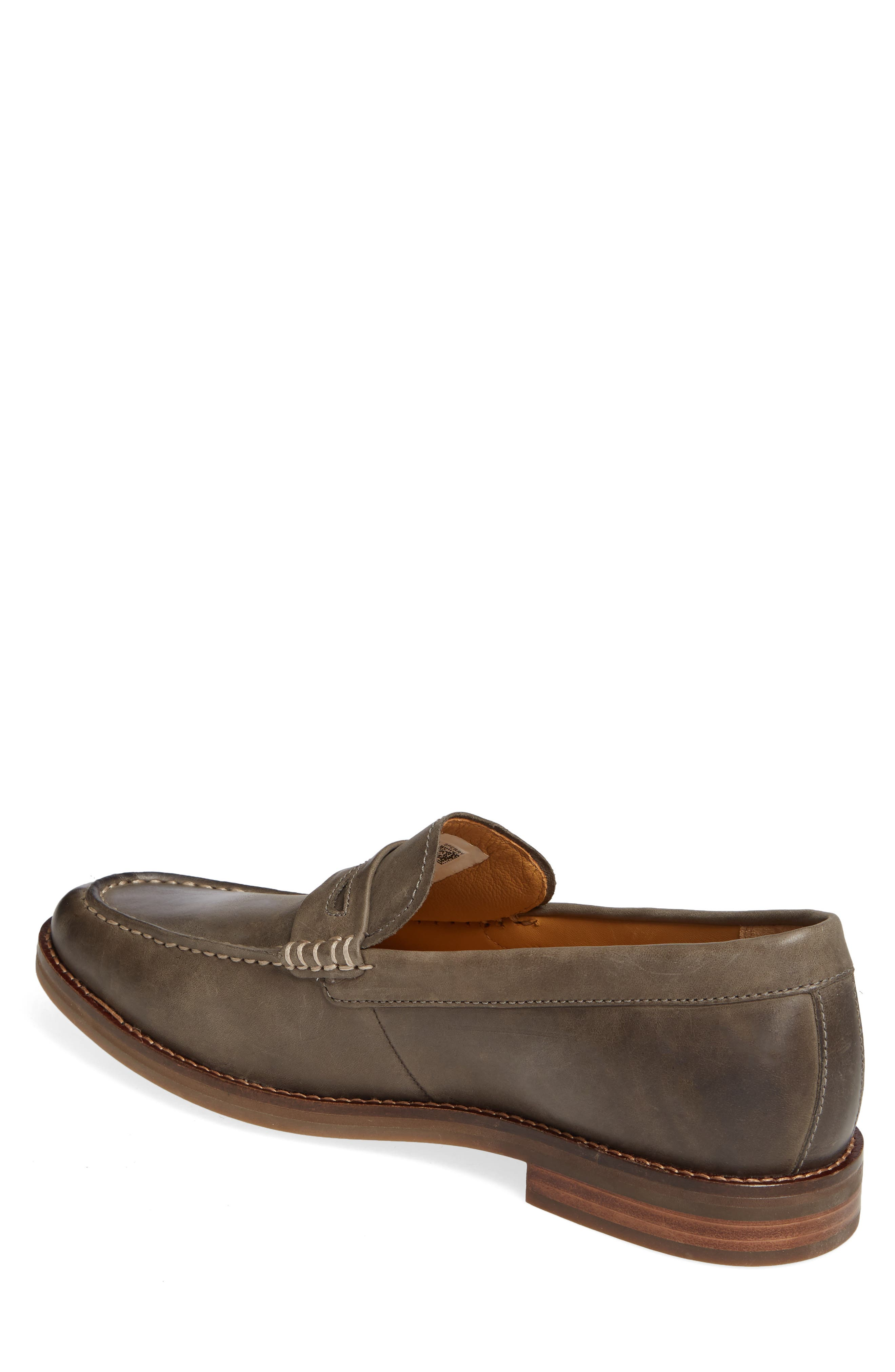 SPERRY, Exeter Penny Loafer, Alternate thumbnail 2, color, GREY