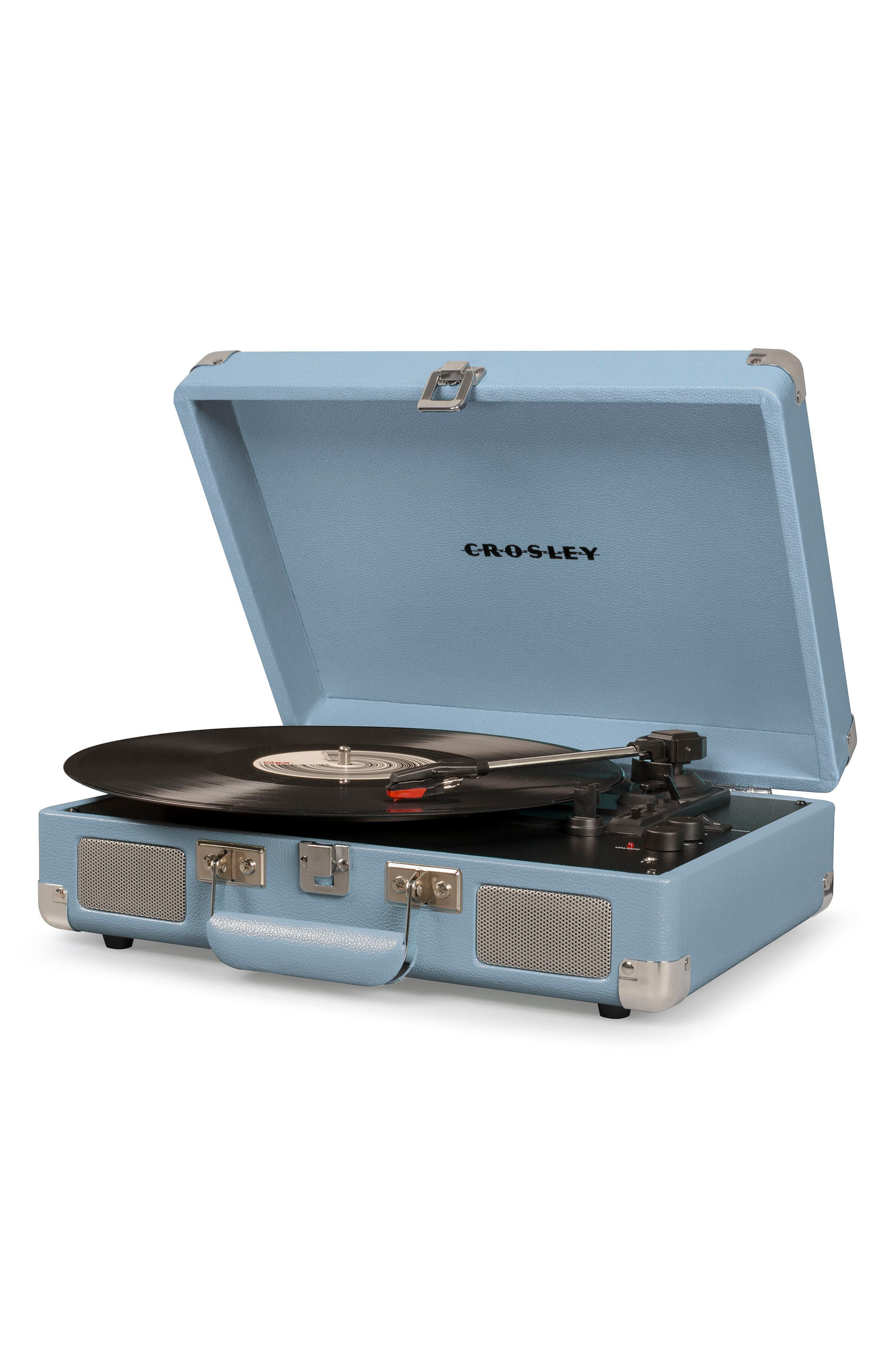 CROSLEY RADIO, Cruiser Deluxe Turntable, Alternate thumbnail 3, color, TOURMALINE