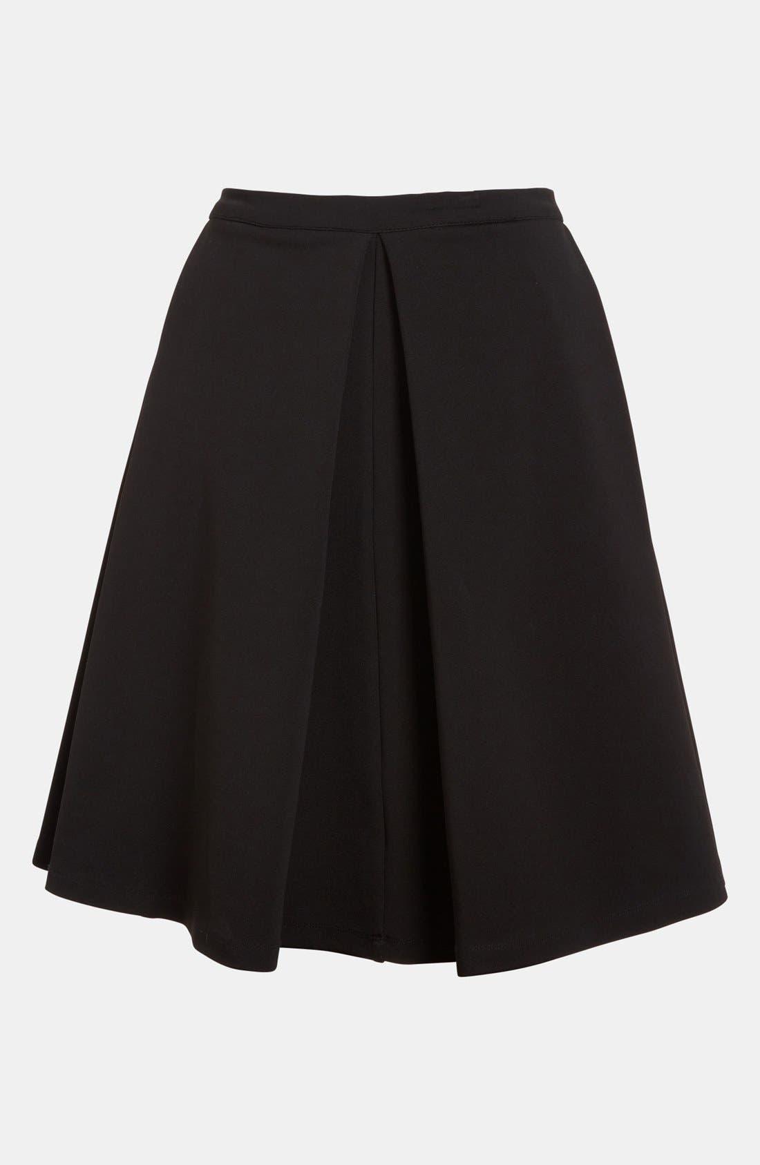 DEVLIN, Pleated Skirt, Main thumbnail 1, color, 001