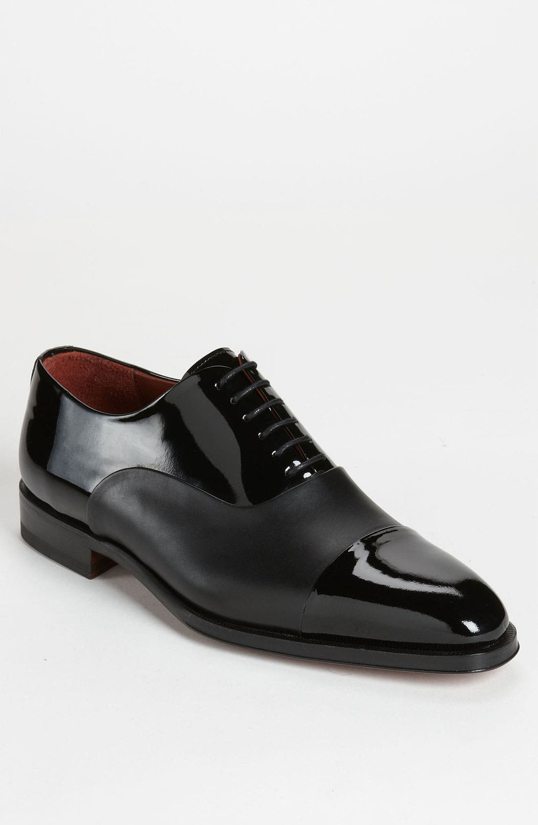 MAGNANNI Cesar Cap Toe Oxford, Main, color, BLACK