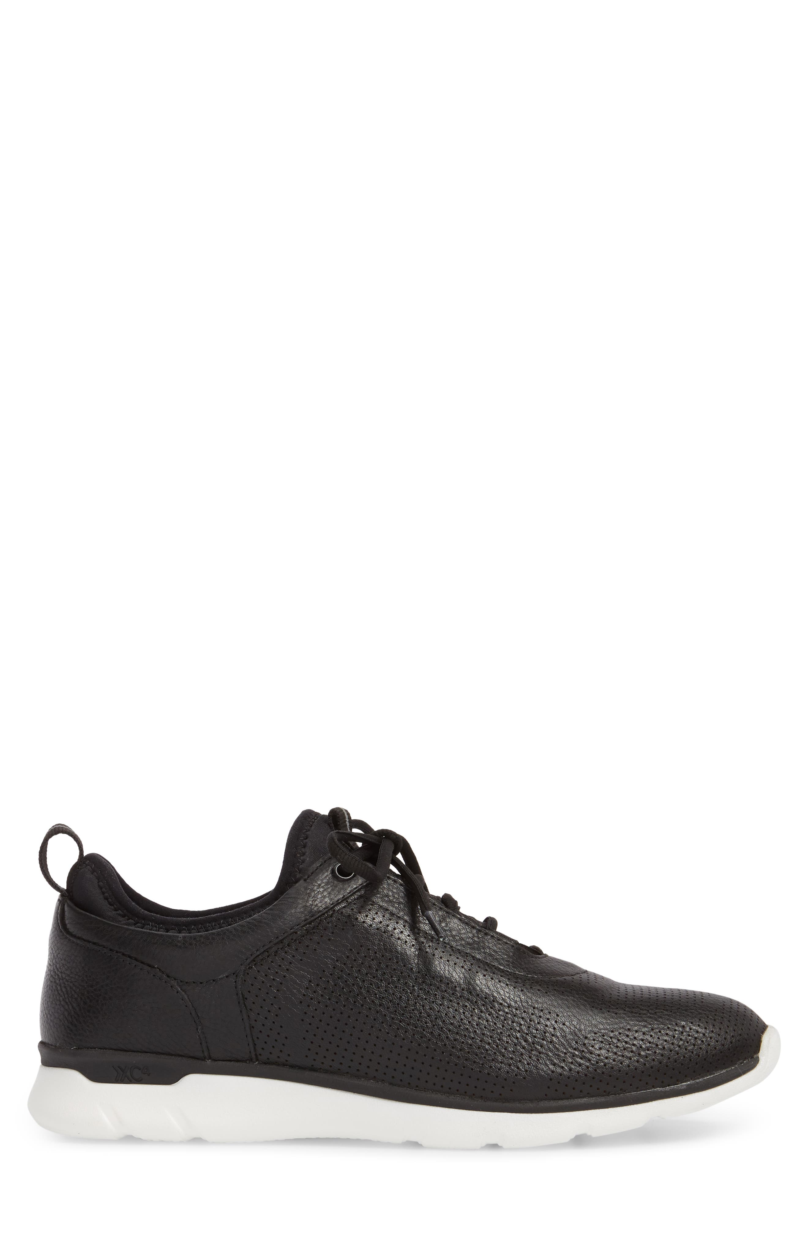 JOHNSTON & MURPHY, Prentiss XC4<sup>®</sup> Waterproof Sneaker, Alternate thumbnail 3, color, BLACK LEATHER