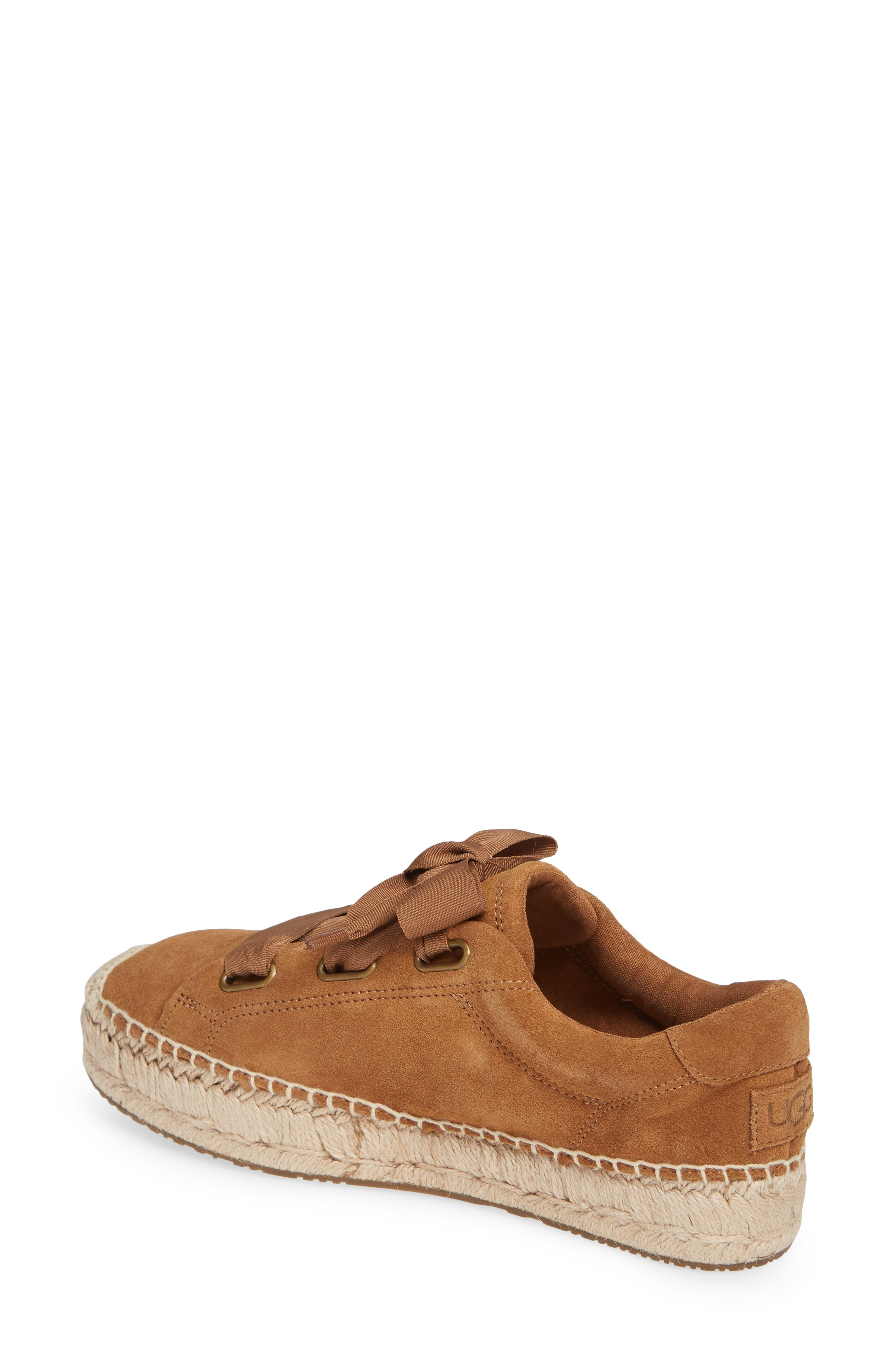 UGG<SUP>®</SUP>, Brianna Sneaker, Alternate thumbnail 2, color, CHESTNUT SUEDE