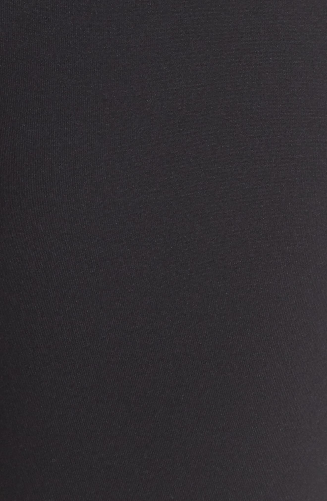 ZELLA, Hatha High Waist Bike Shorts, Alternate thumbnail 6, color, BLACK