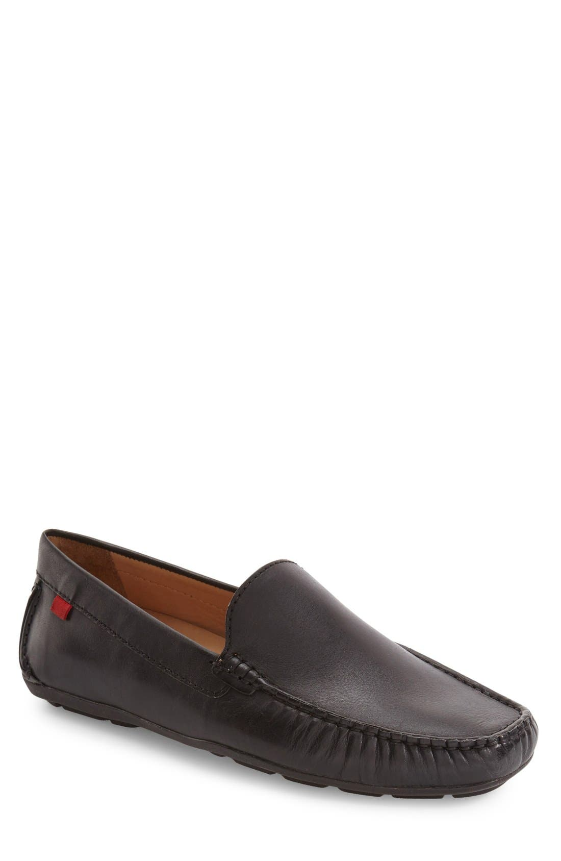 MARC JOSEPH NEW YORK, Venetian Driving Loafer, Alternate thumbnail 3, color, 001