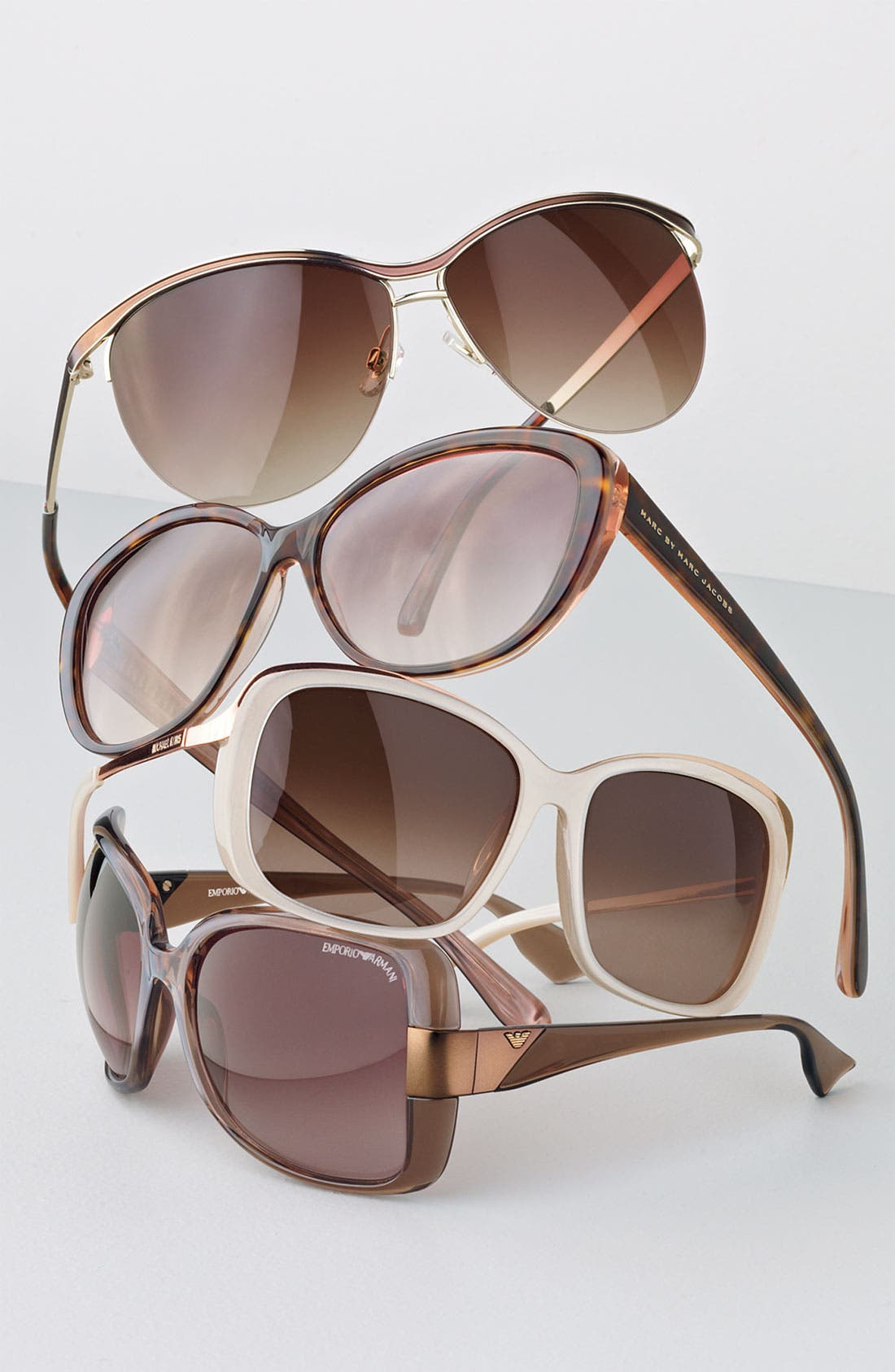 MARC BY MARC JACOBS, Cat's Eye Sunglasses, Alternate thumbnail 2, color, 001