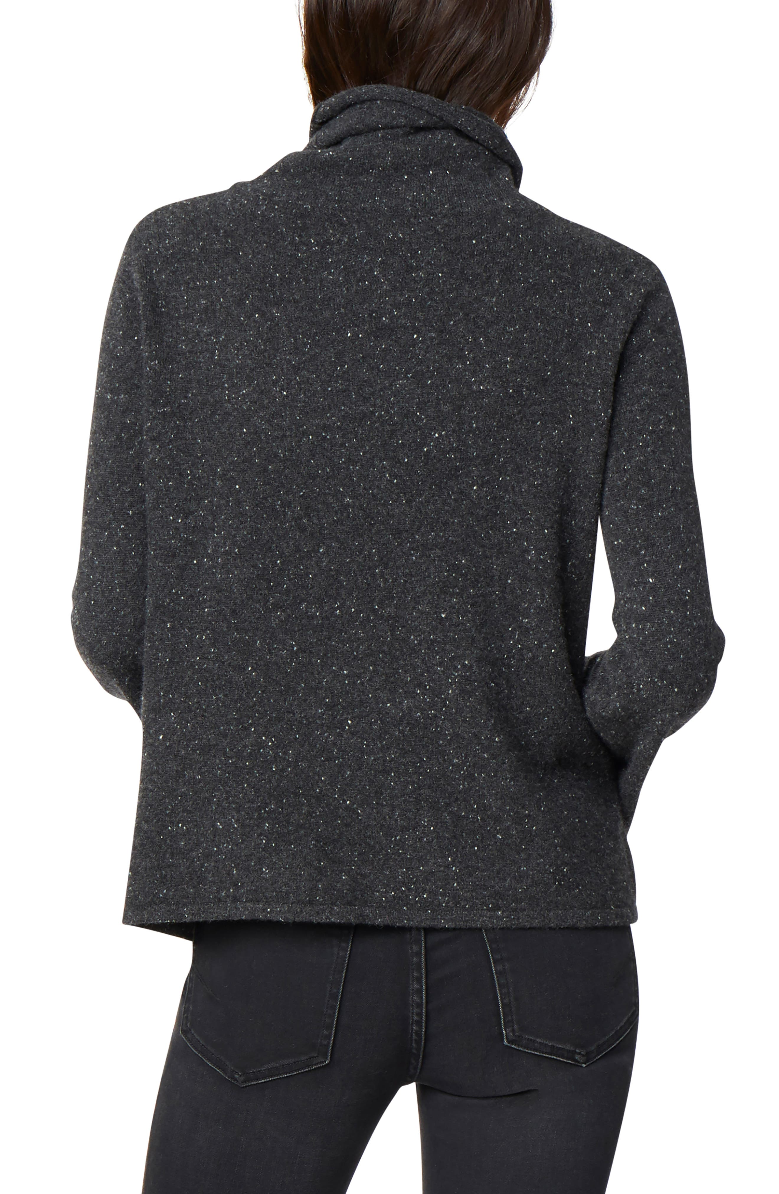 HABITUAL, Adalyn Oversize Bell Sleeve Cashmere Sweater, Alternate thumbnail 2, color, 001