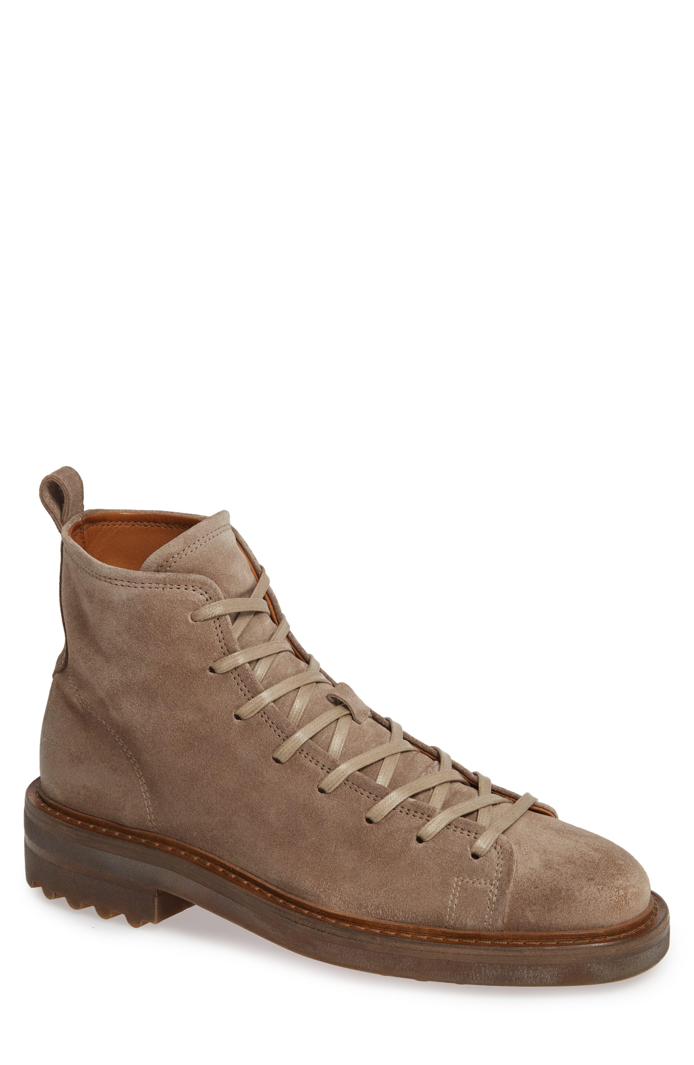 John Varvatos Collection Essex Plain Toe Boot, Brown