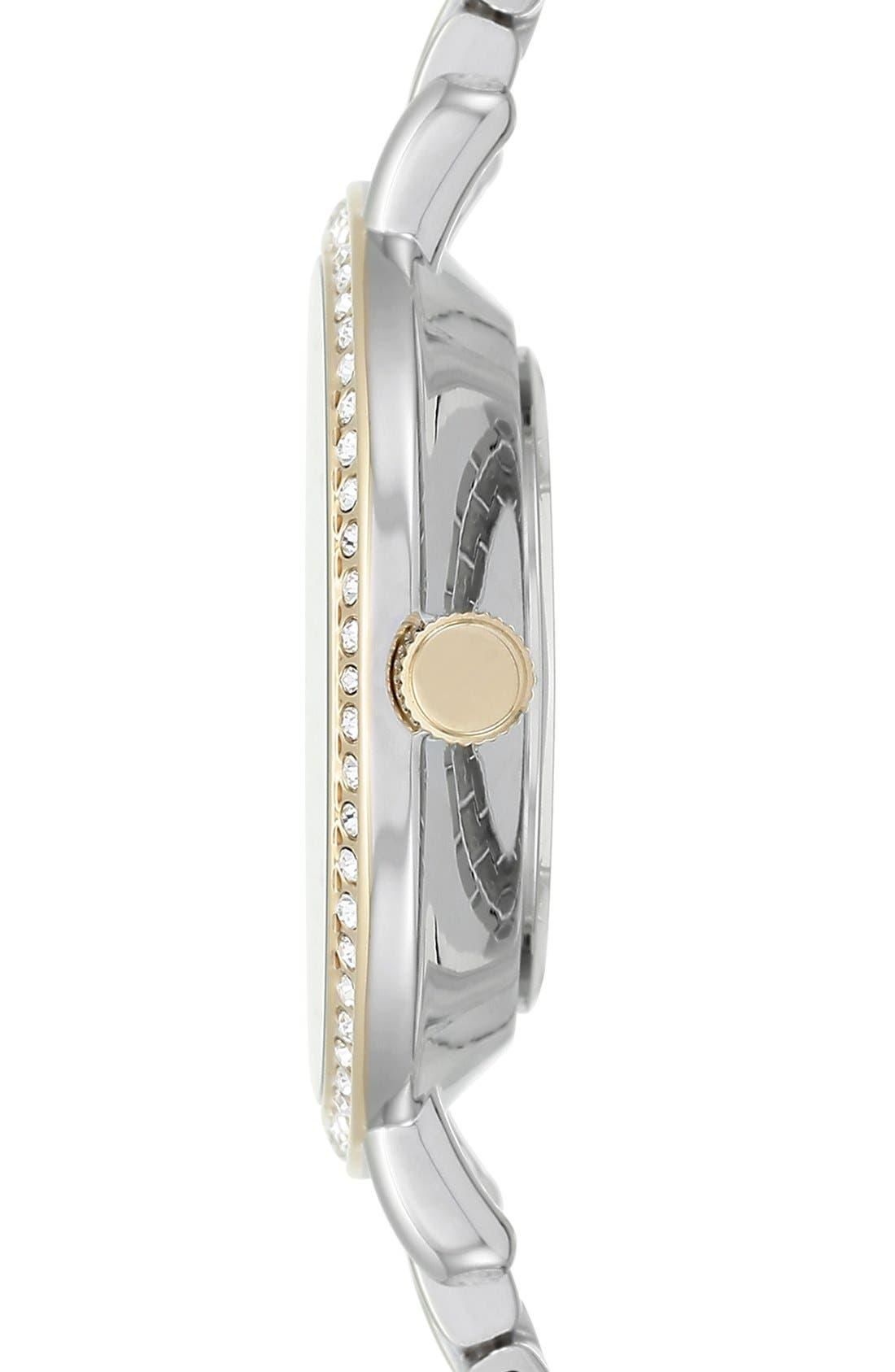 ANNE KLEIN, Round Bracelet Watch, 36mm, Alternate thumbnail 2, color, 040
