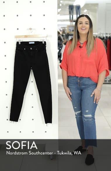 b(air) Raw Hem Crop Skinny Jeans, sales video thumbnail