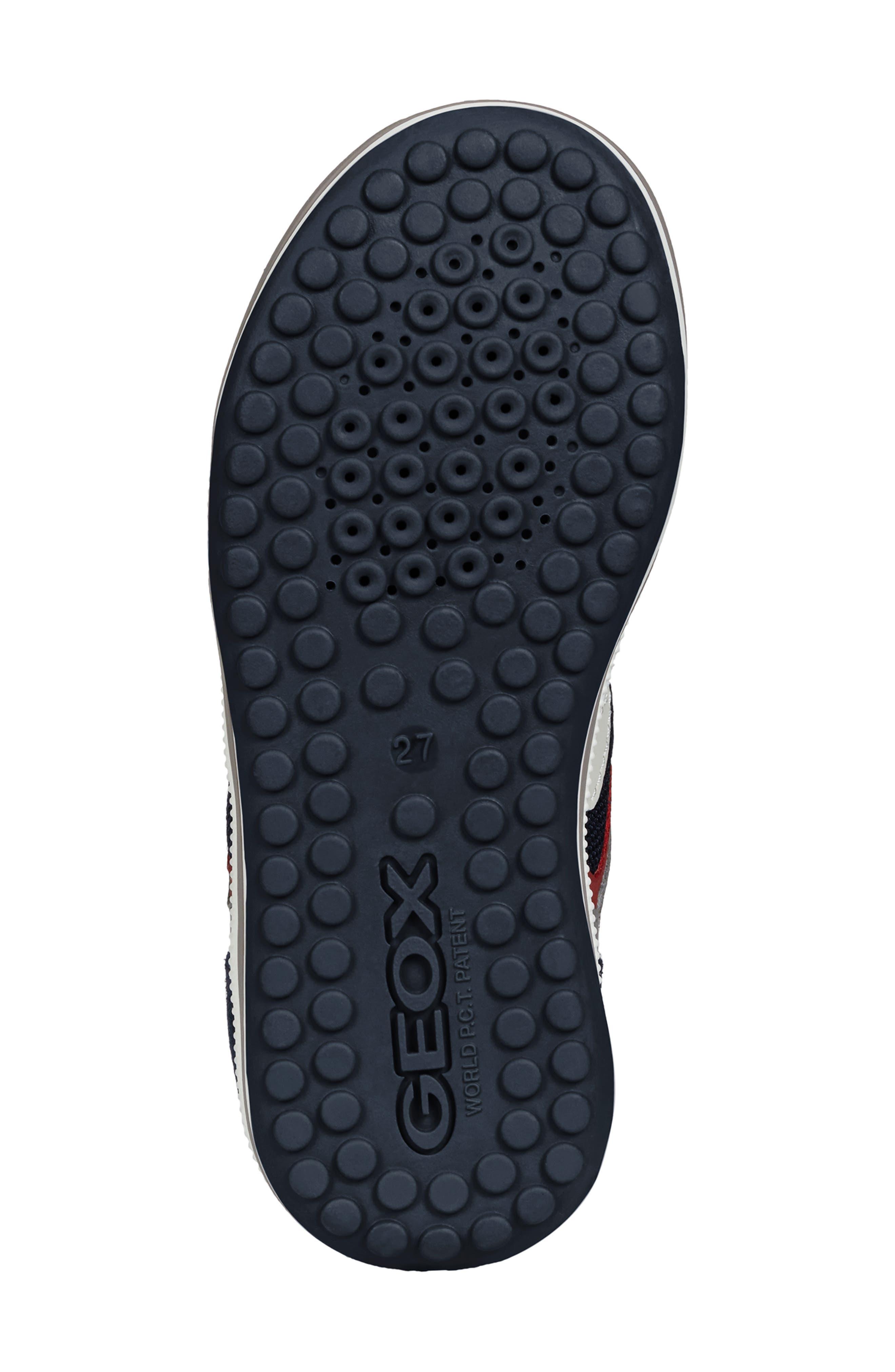 GEOX, 'Vita' Sneaker, Alternate thumbnail 6, color, NAVY/ RED