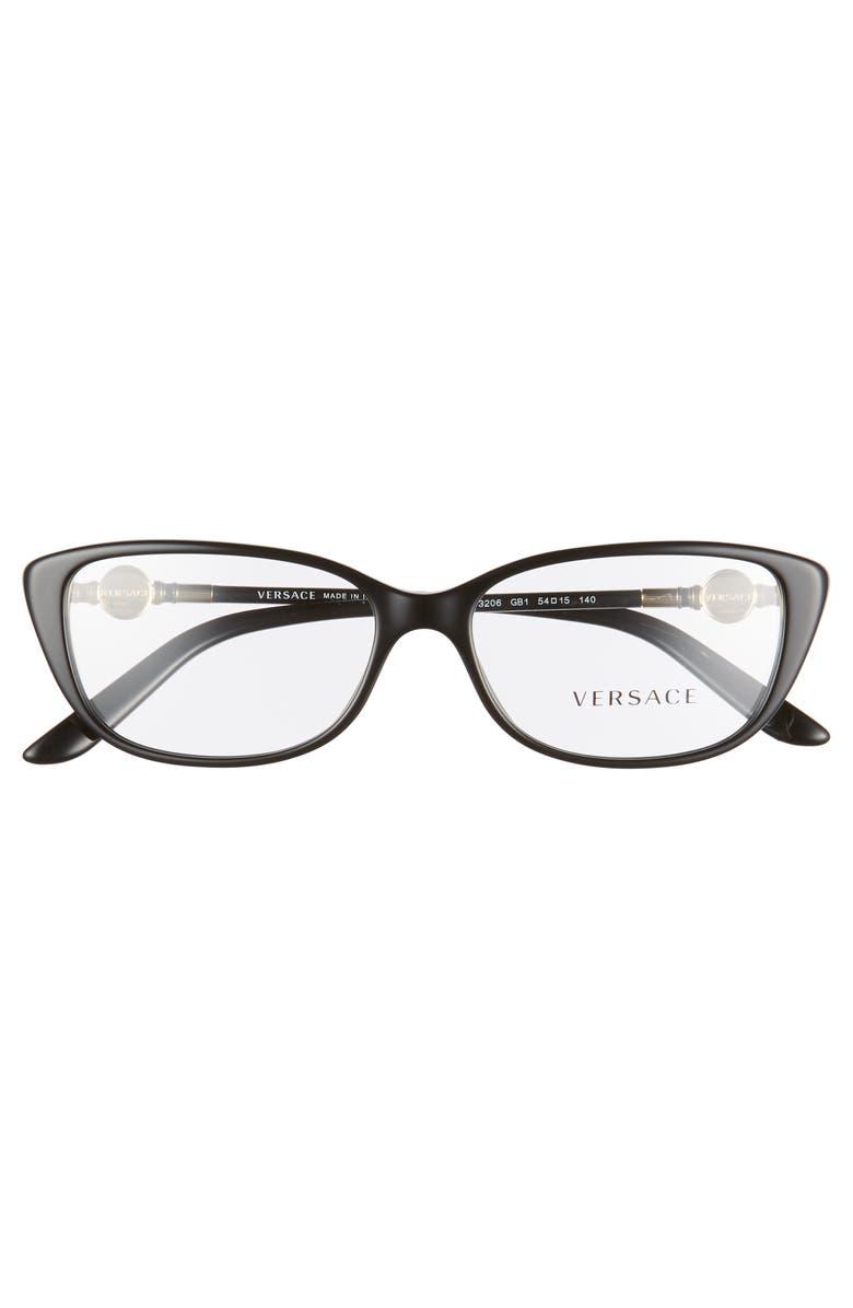 b66d31cc5e4f5 Versace 54Mm Cat Eye Optical Glasses - Black