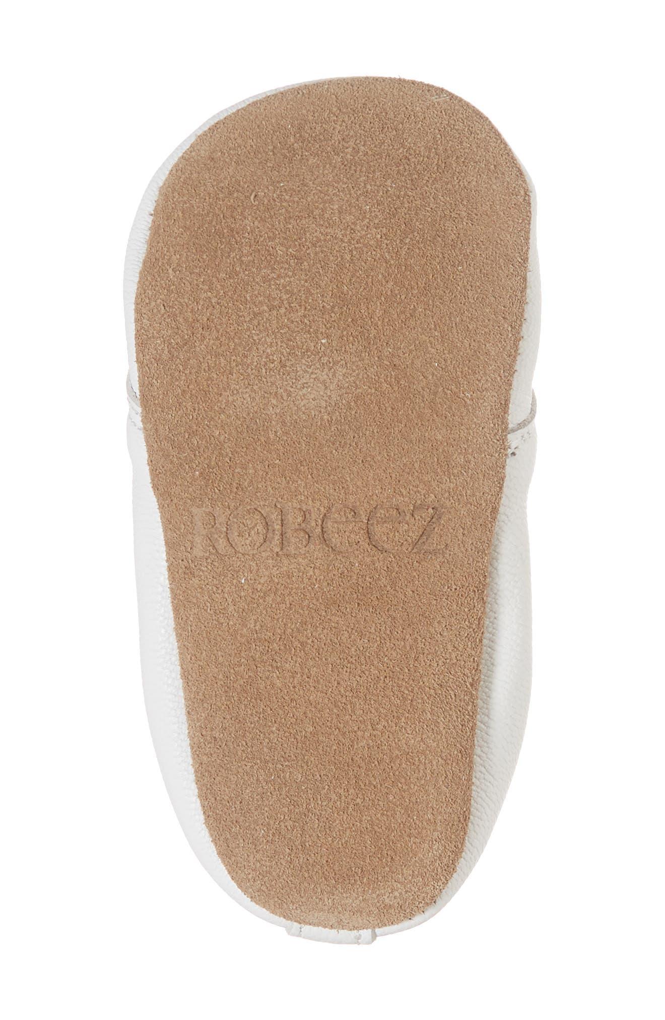 ROBEEZ<SUP>®</SUP>, Owen Oxford Crib Shoe, Alternate thumbnail 6, color, WHITE