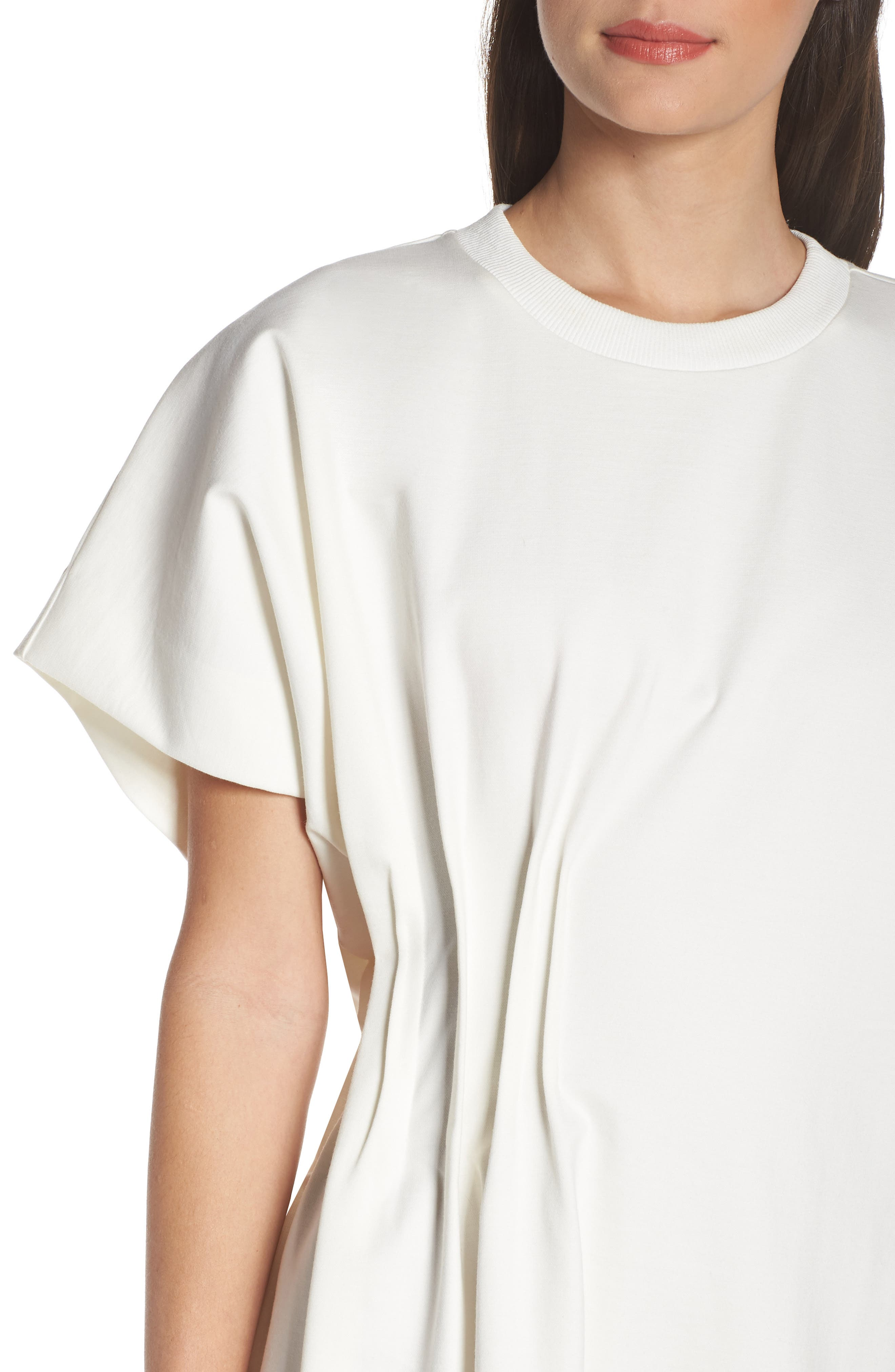 CAARA, Looma T-Shirt Dress, Alternate thumbnail 5, color, WHITE