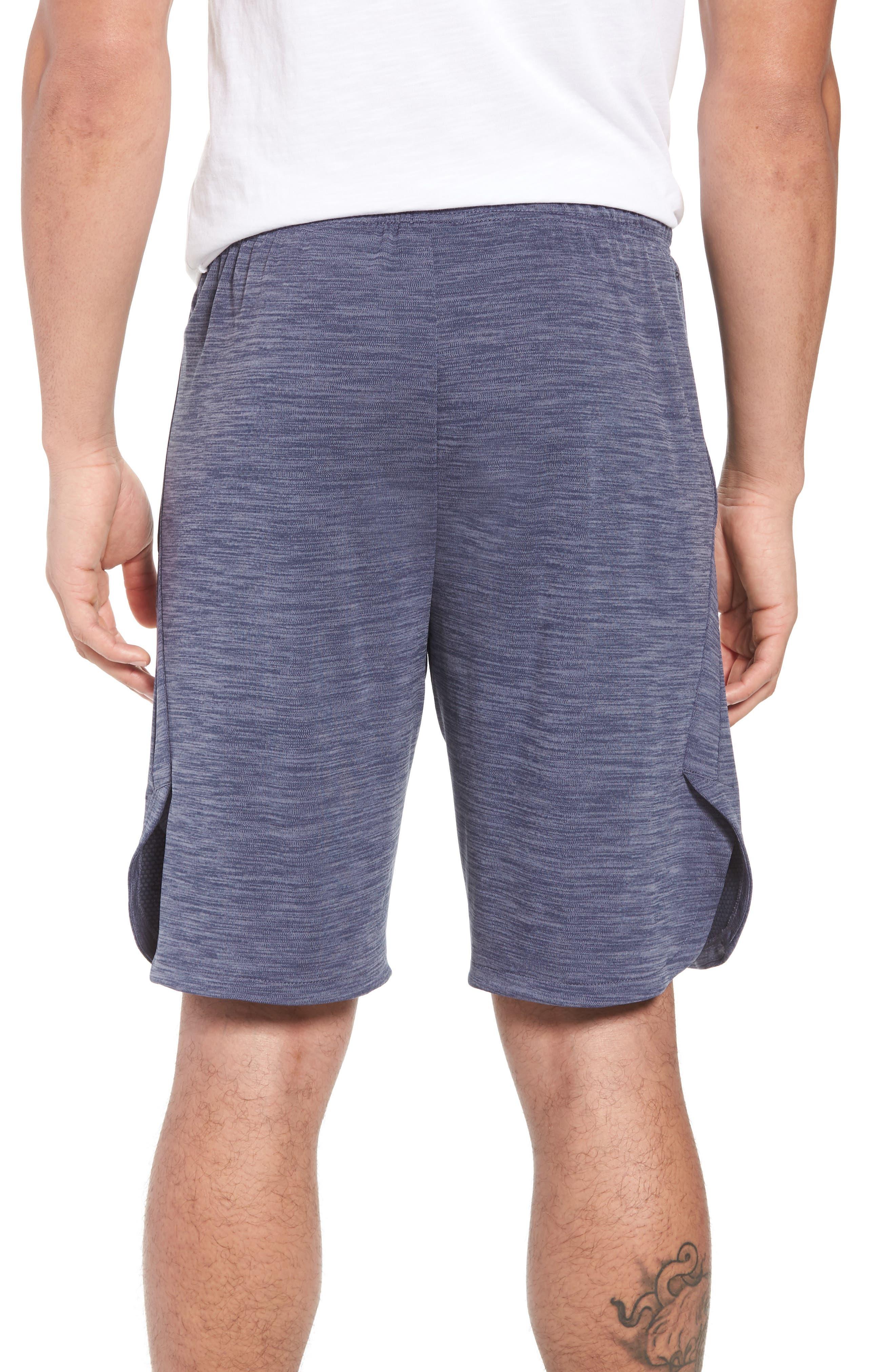 NIKE, Dry Training Shorts, Alternate thumbnail 2, color, LIGHT CARBON/ BLACK